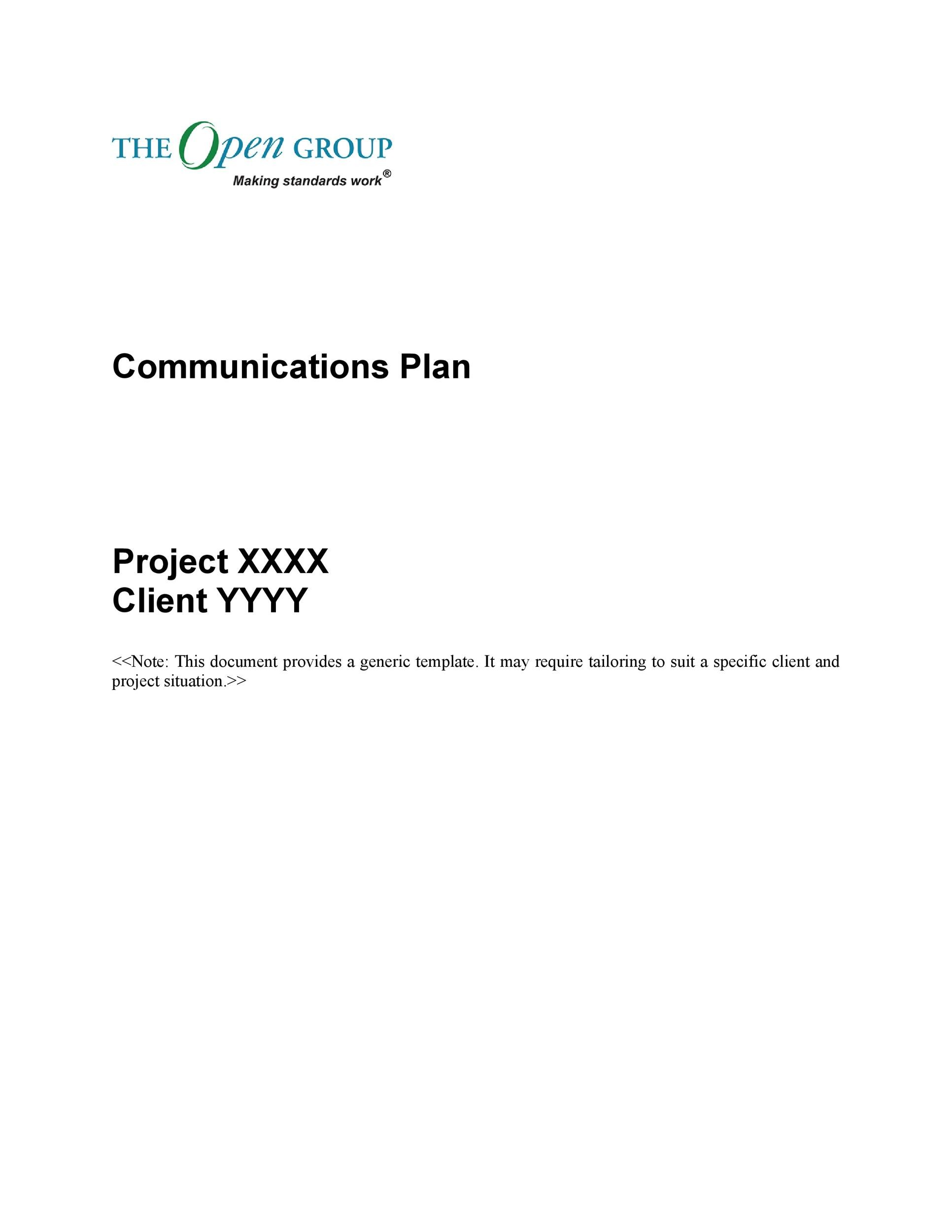 Free Communication Plan Template 32