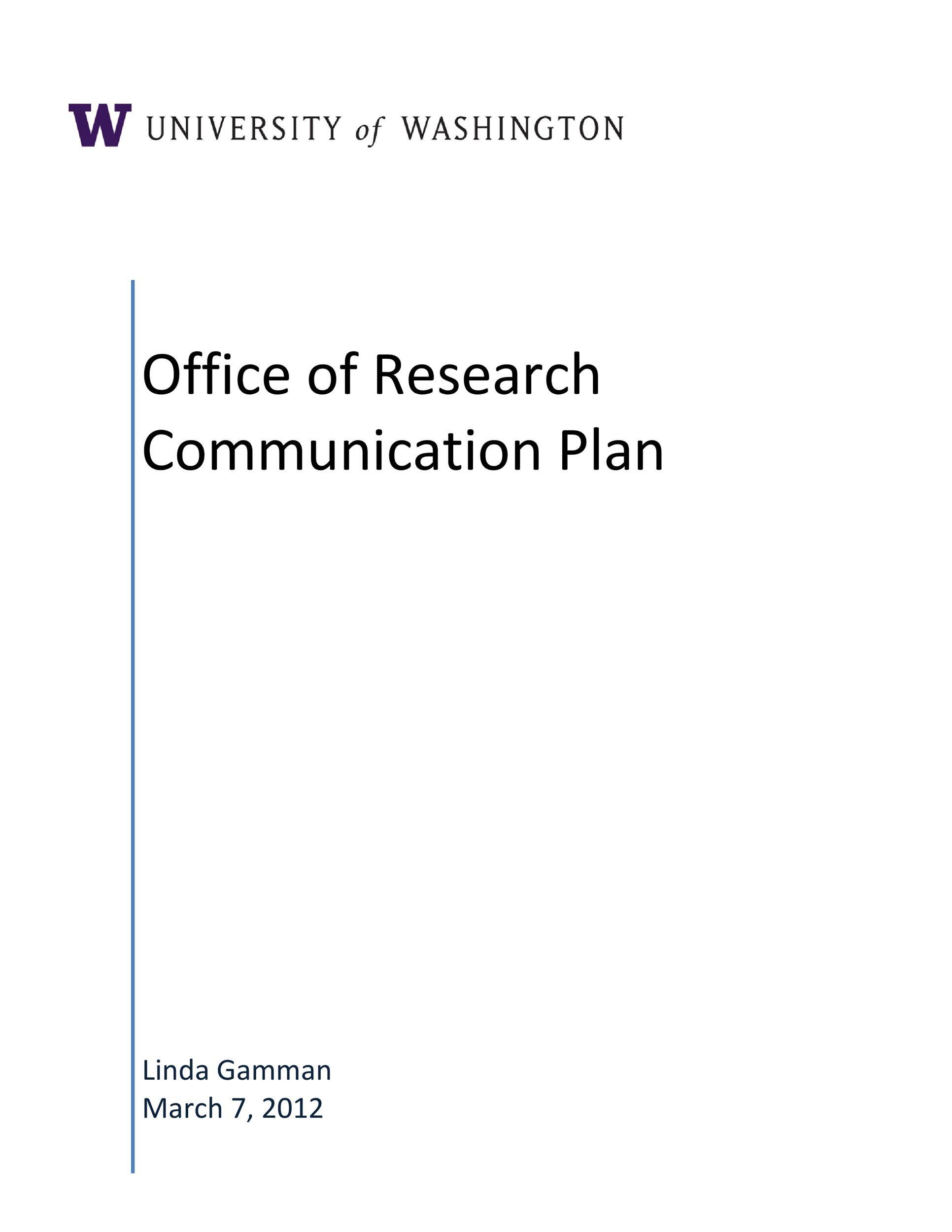 Free Communication Plan Template 34