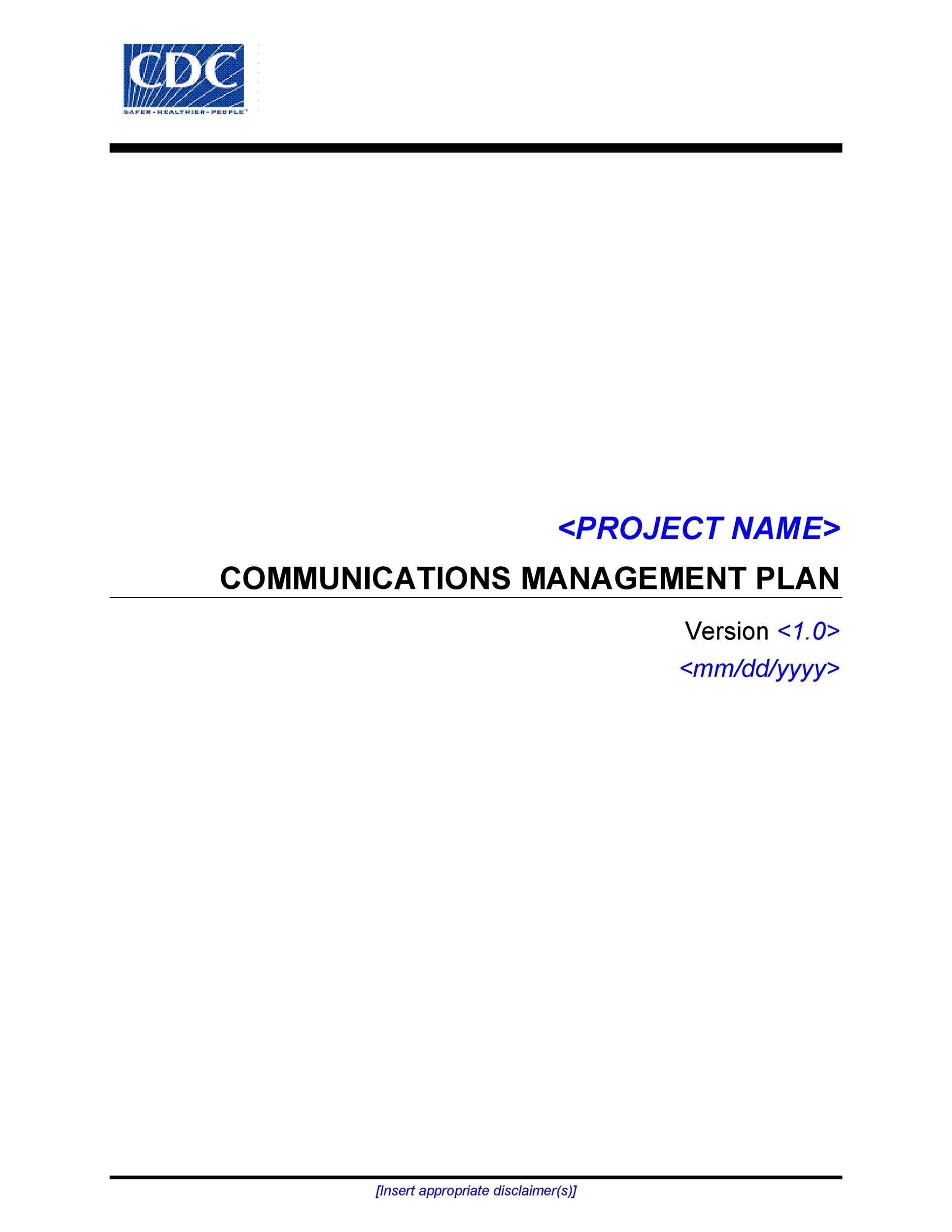 Free Communication Plan Template 35