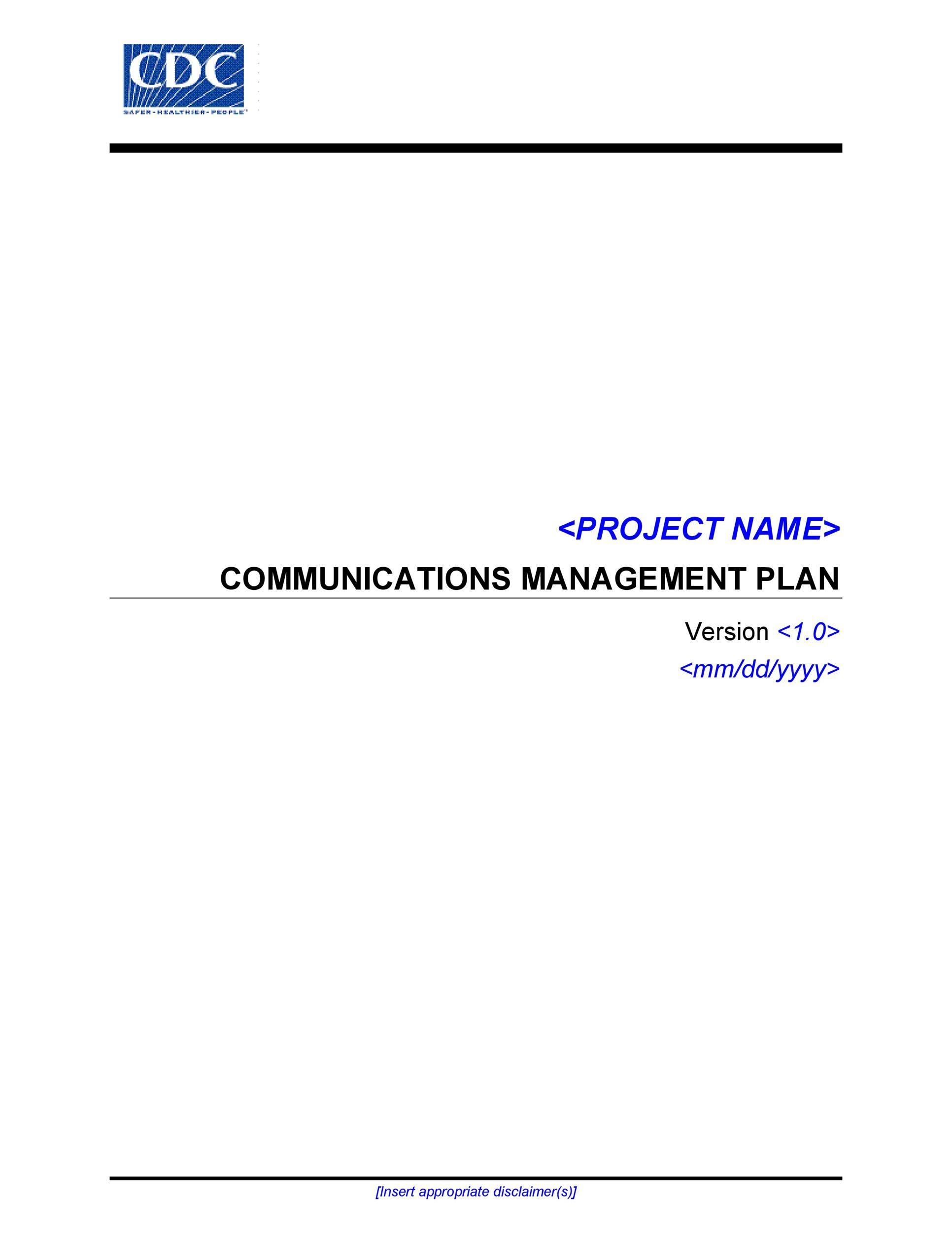 Free Communication Plan Template 35