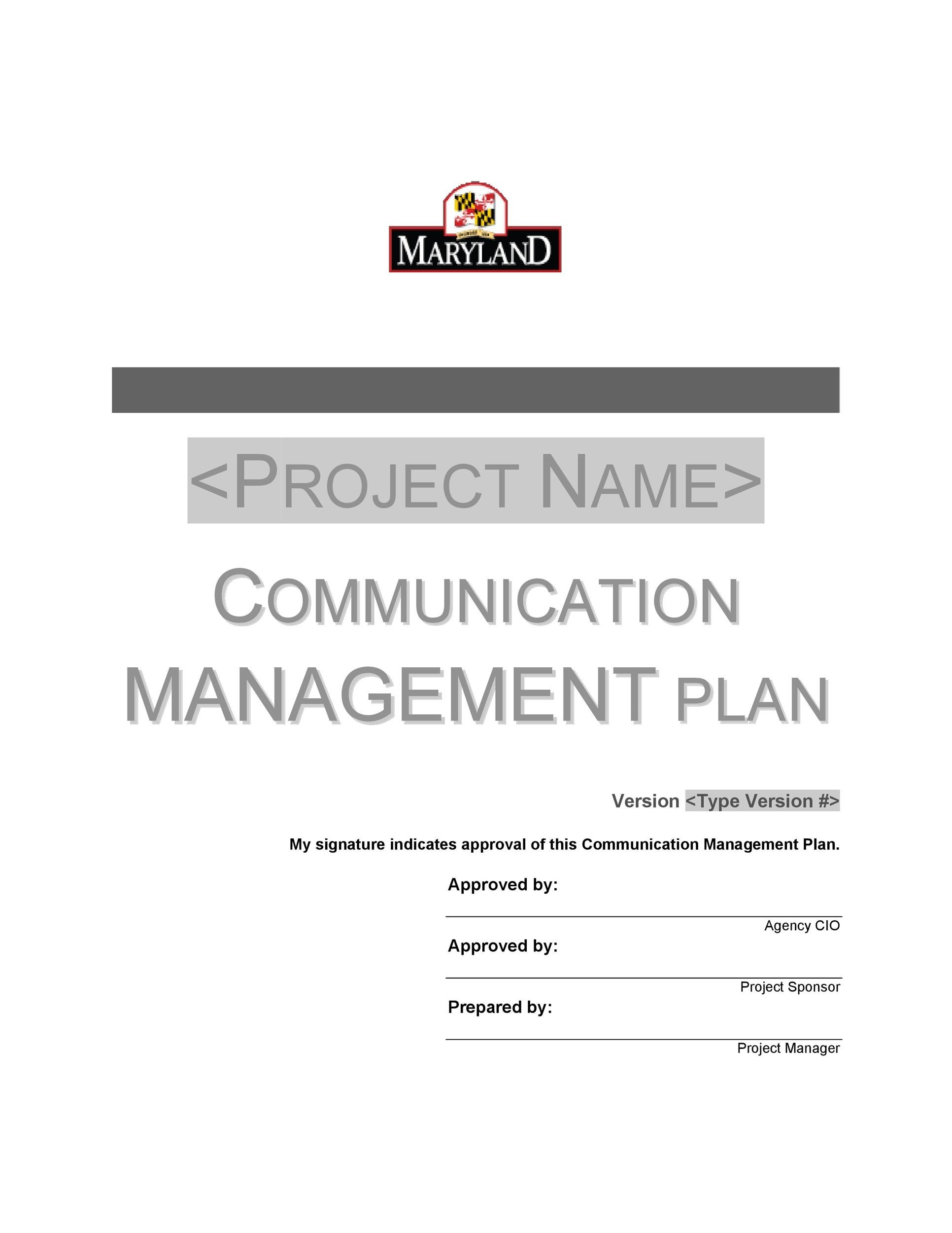 Free Communication Plan Template 37