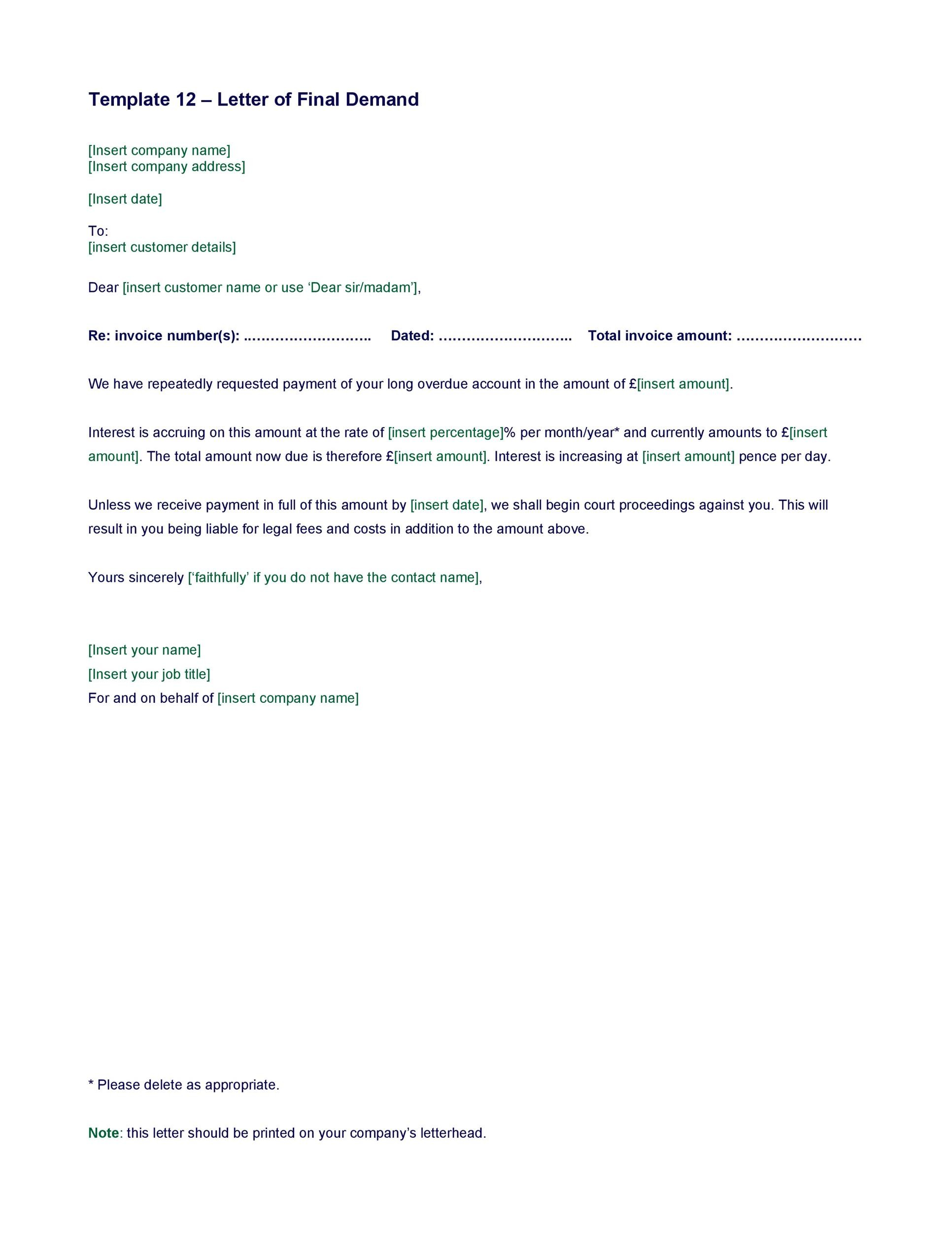 Free Demand Letter Template 03