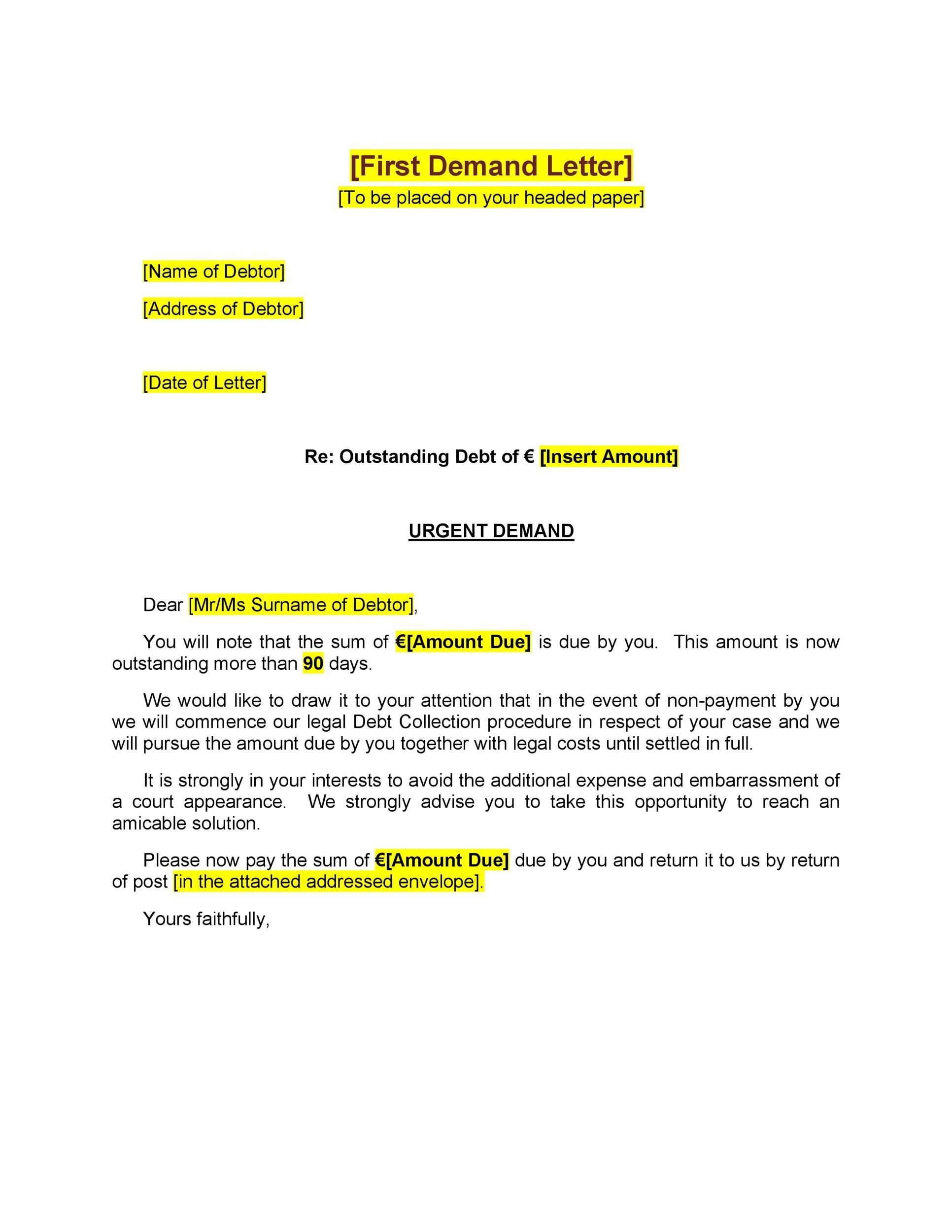 Free Demand Letter Template 05