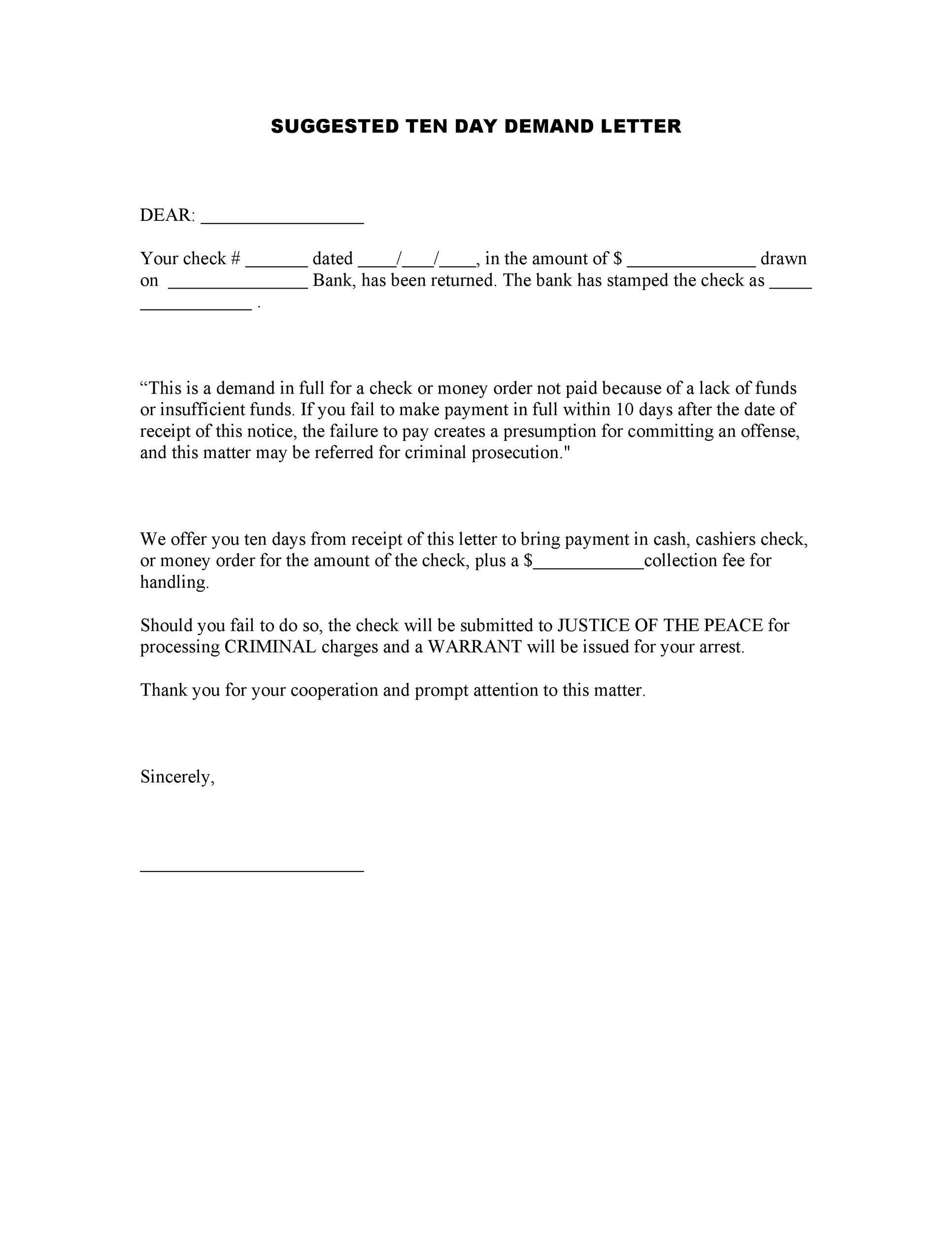 Demand-Letter-Template-09  Day Demand Letter Template To Return Auto Mobile on