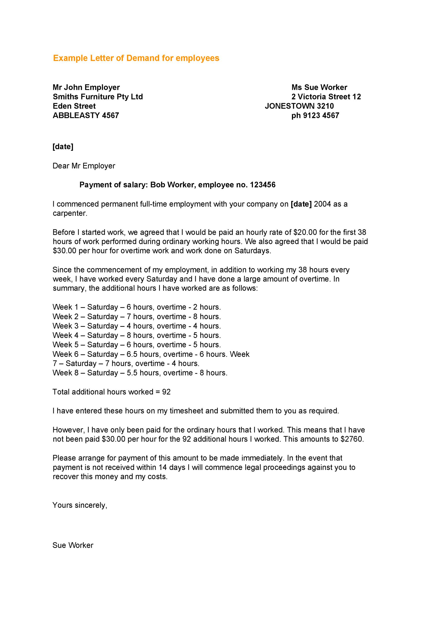 Demand-Letter-Template-19 Salary Demand Letter Template on for suiting companies, for quality, earnest money, insurance company, for injury, editable free, diminished value, for services, don compton book, turning robocalls into cash, free download print, sample security deposit, for damages,