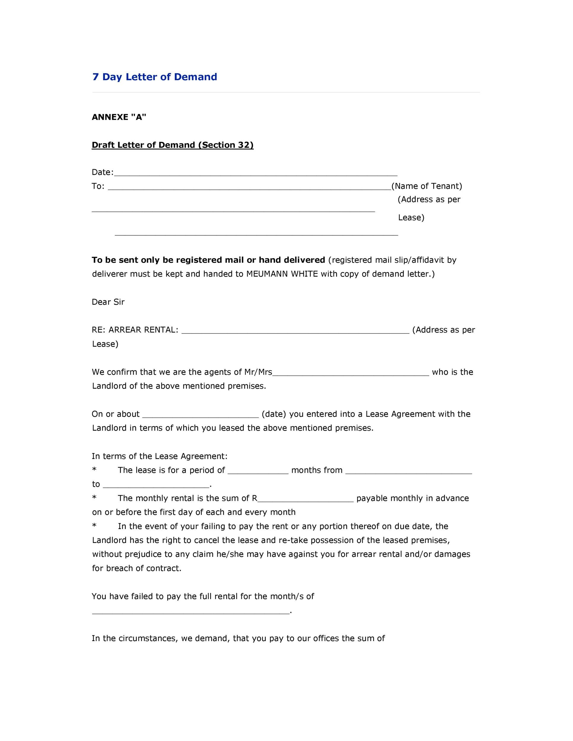 Demand-Letter-Template-22  Day Demand Letter Template To Return Auto Mobile on