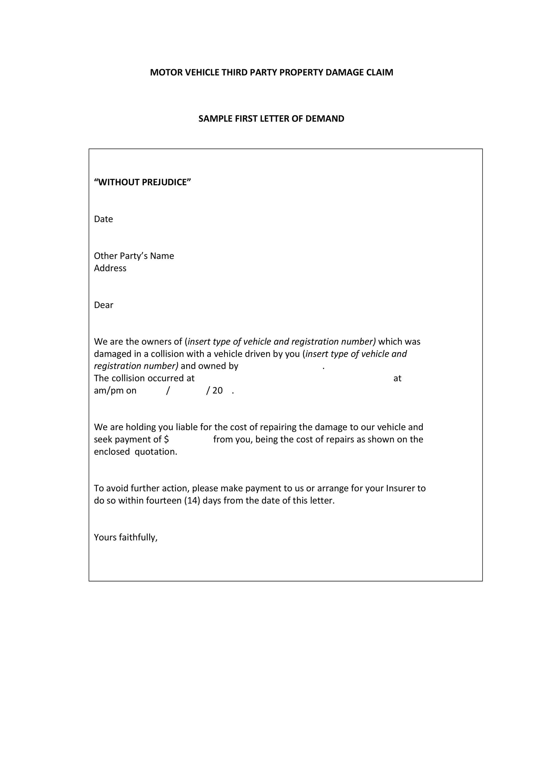 Free Demand Letter Template 24