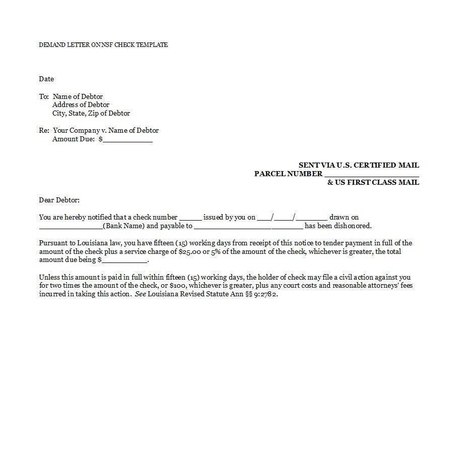 Legal Demand Letter For Payment from templatelab.com