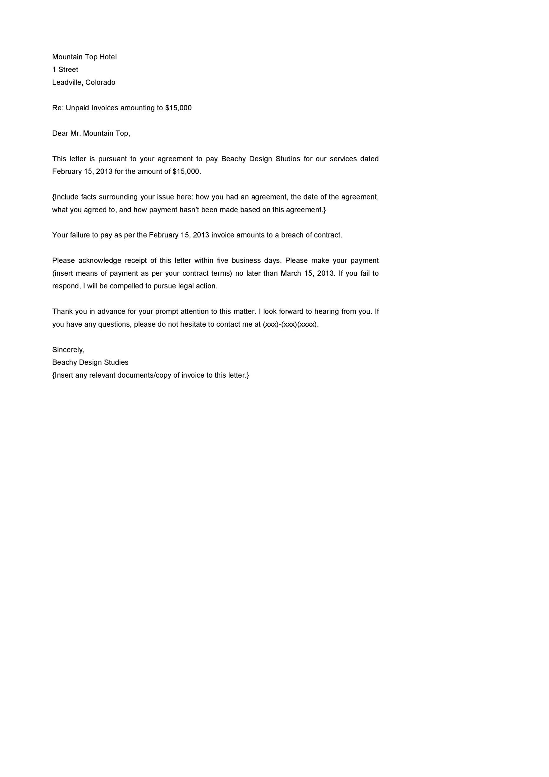 Free Demand Letter Template 34