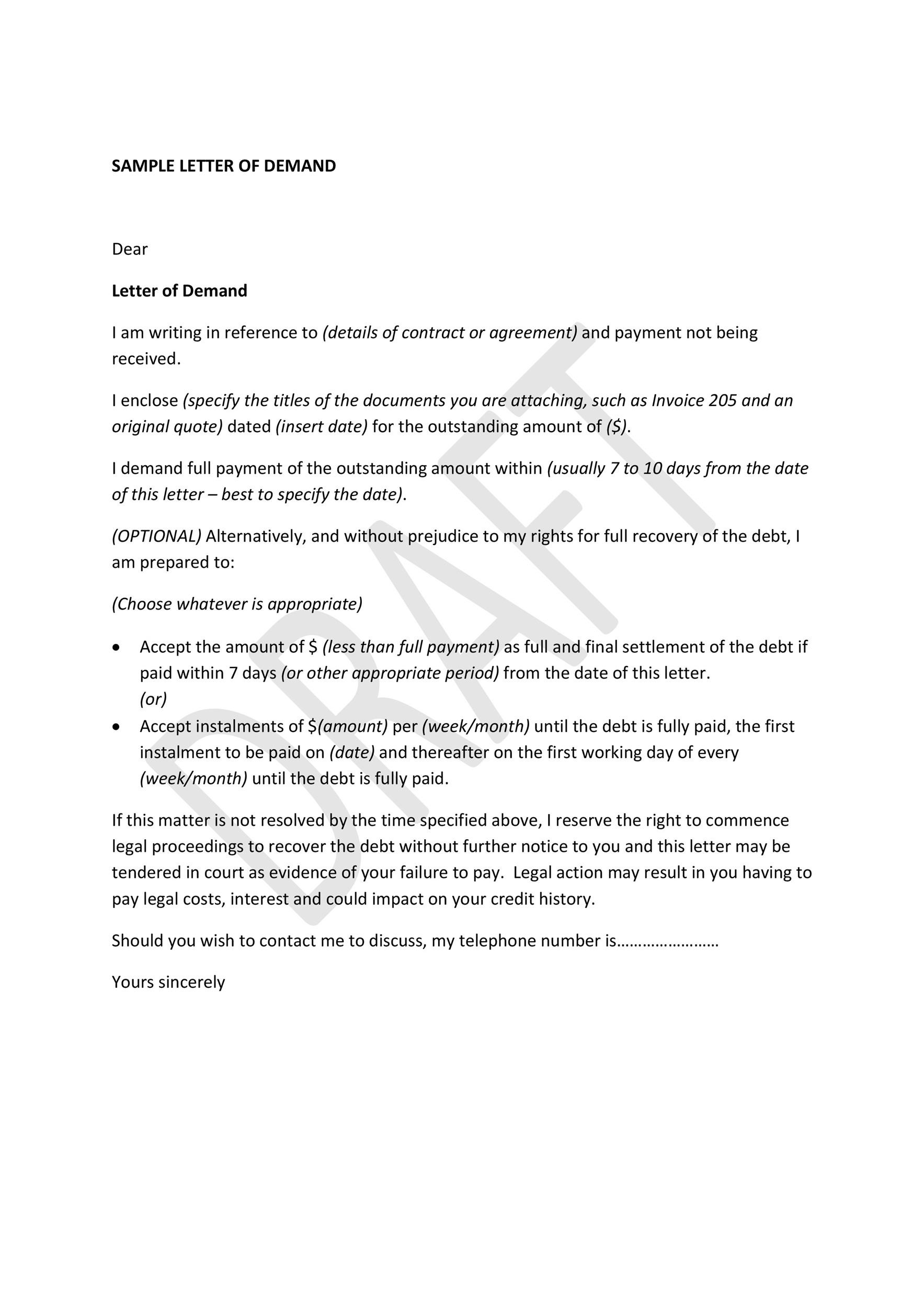 Free Demand Letter Template 35