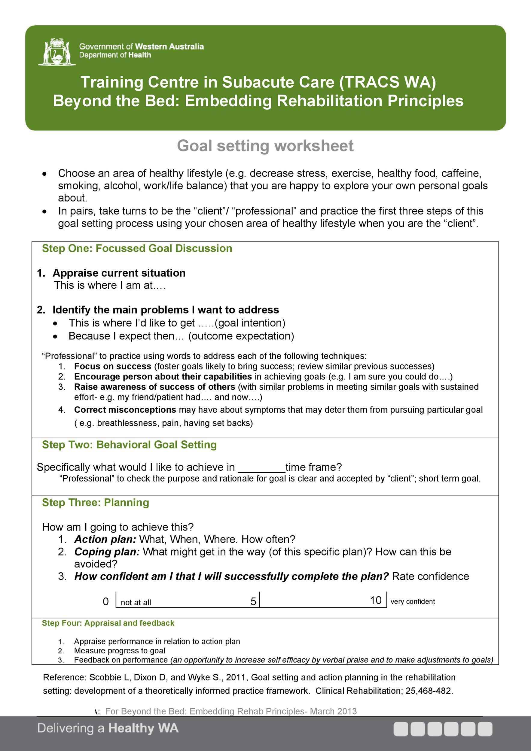 Free Goal Setting Template 01
