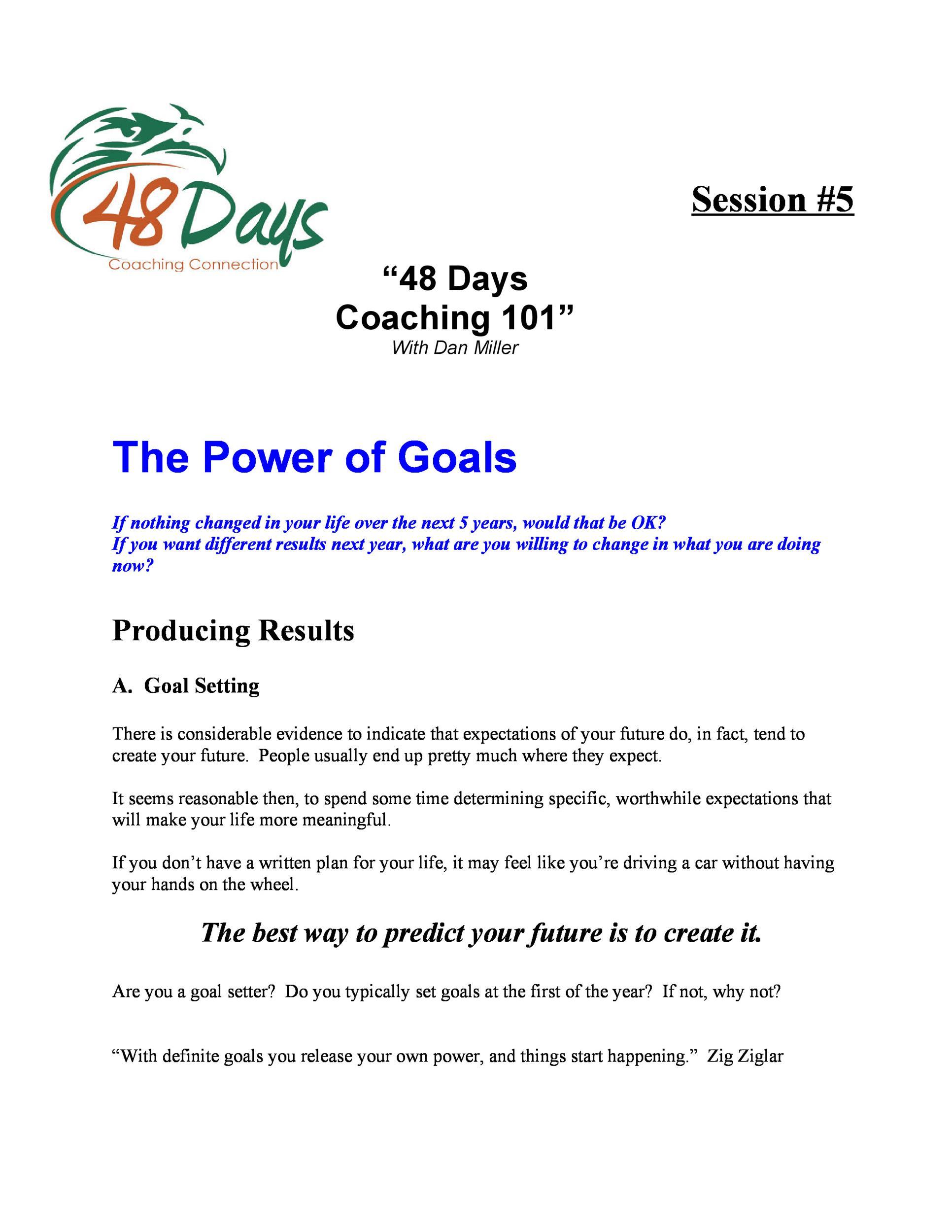 Free Goal Setting Template 03
