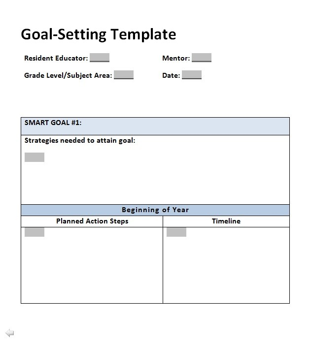 Free Goal Setting Template 04