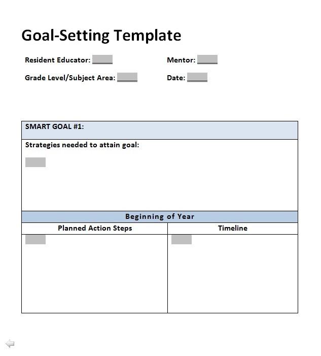 Free Goal Setting Template 04
