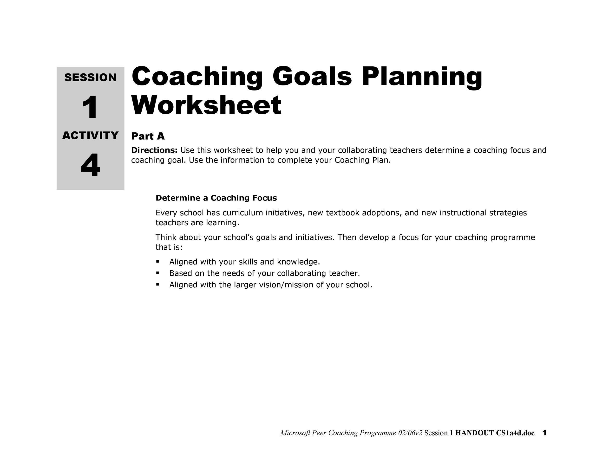 Free Goal Setting Template 21