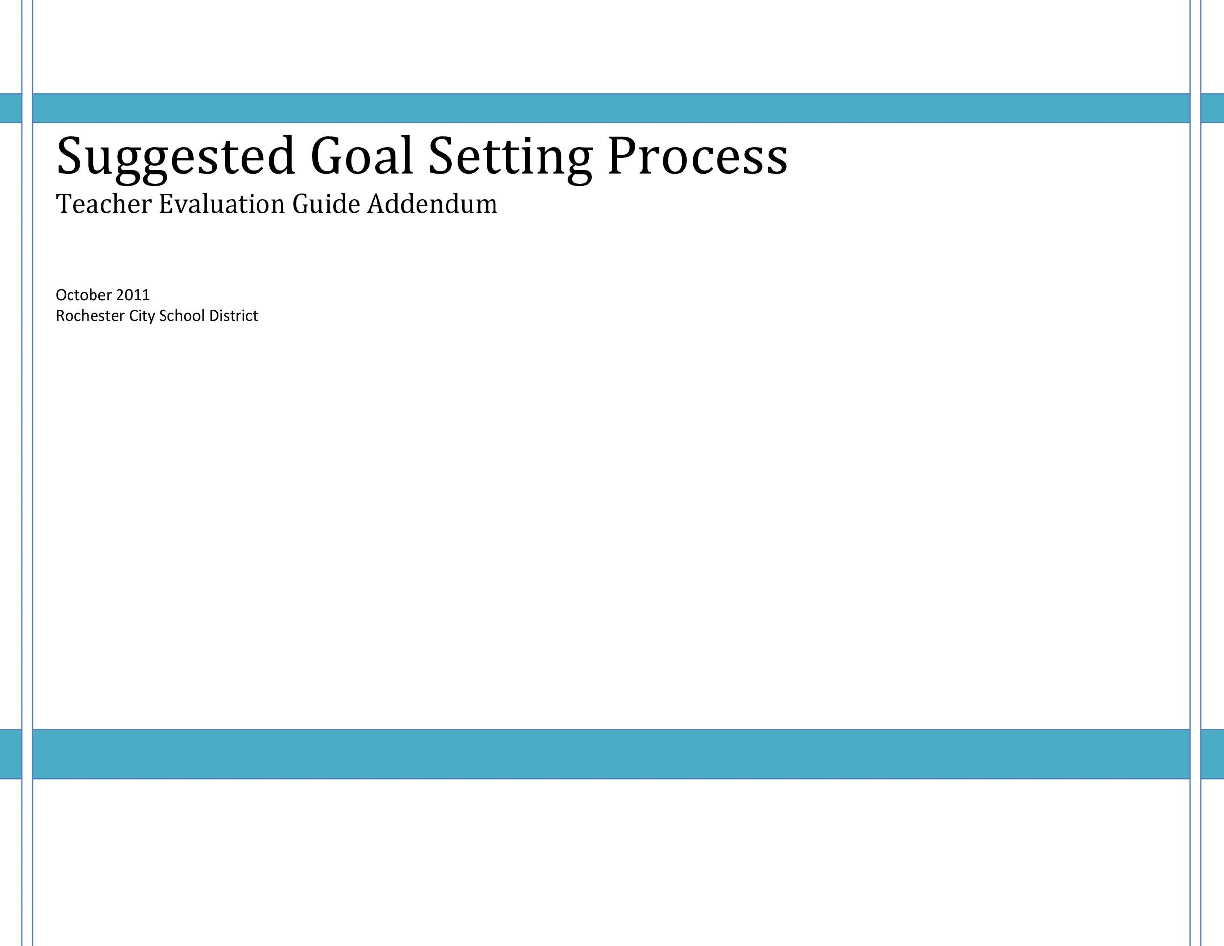 Free Goal Setting Template 38