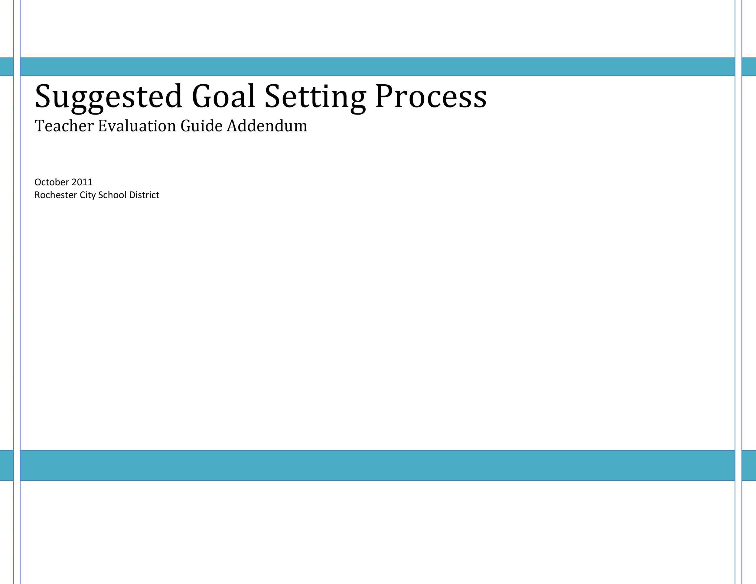 Free Goal Setting Template 38