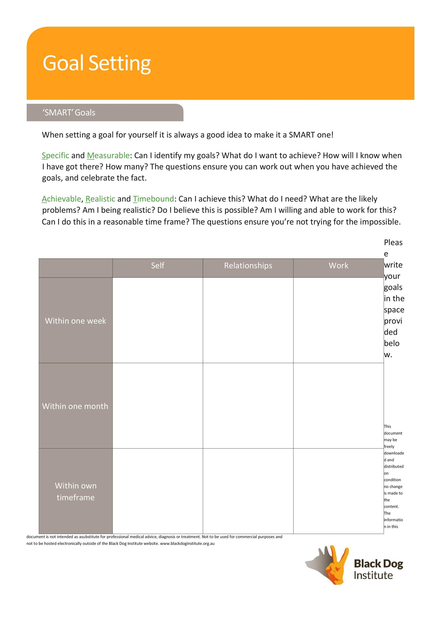 41 S.M.A.R.T Goal Setting Templates & Worksheets