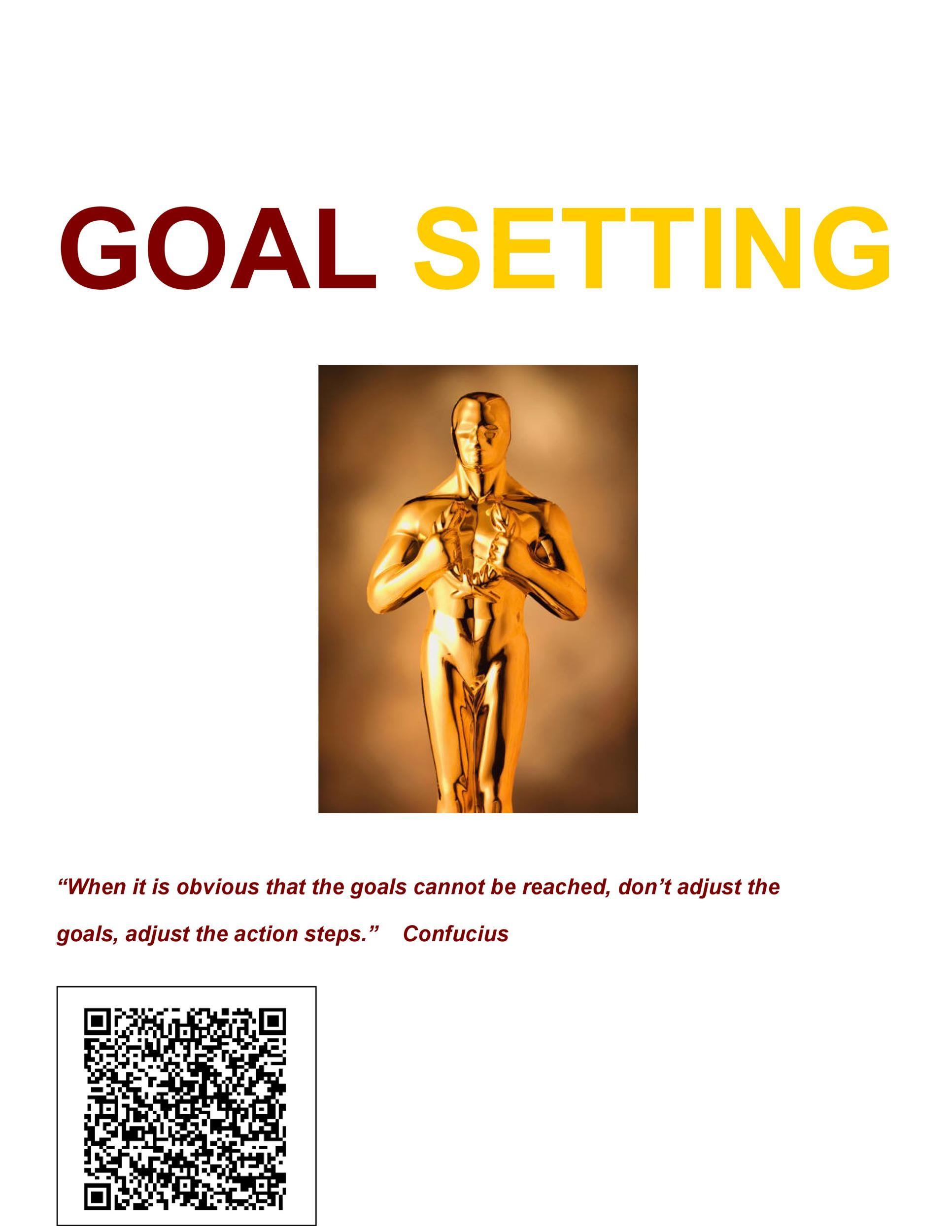 Free Goal Setting Template 41