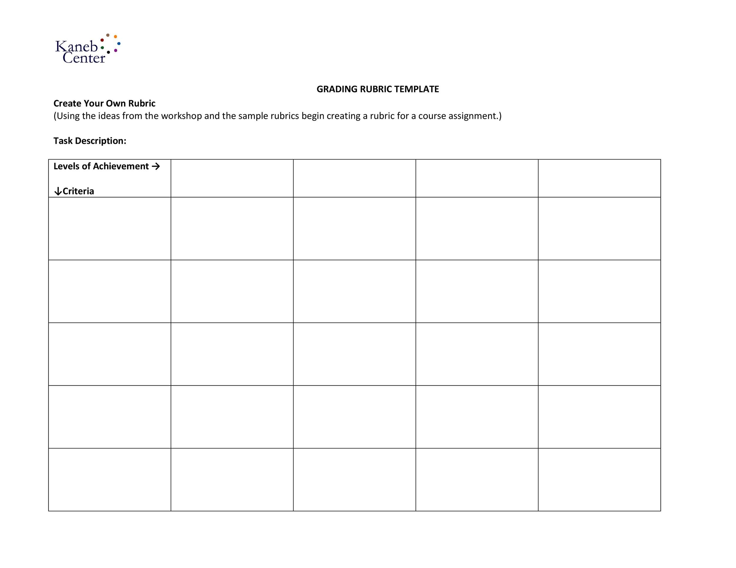Free Grading Rubric Template 10
