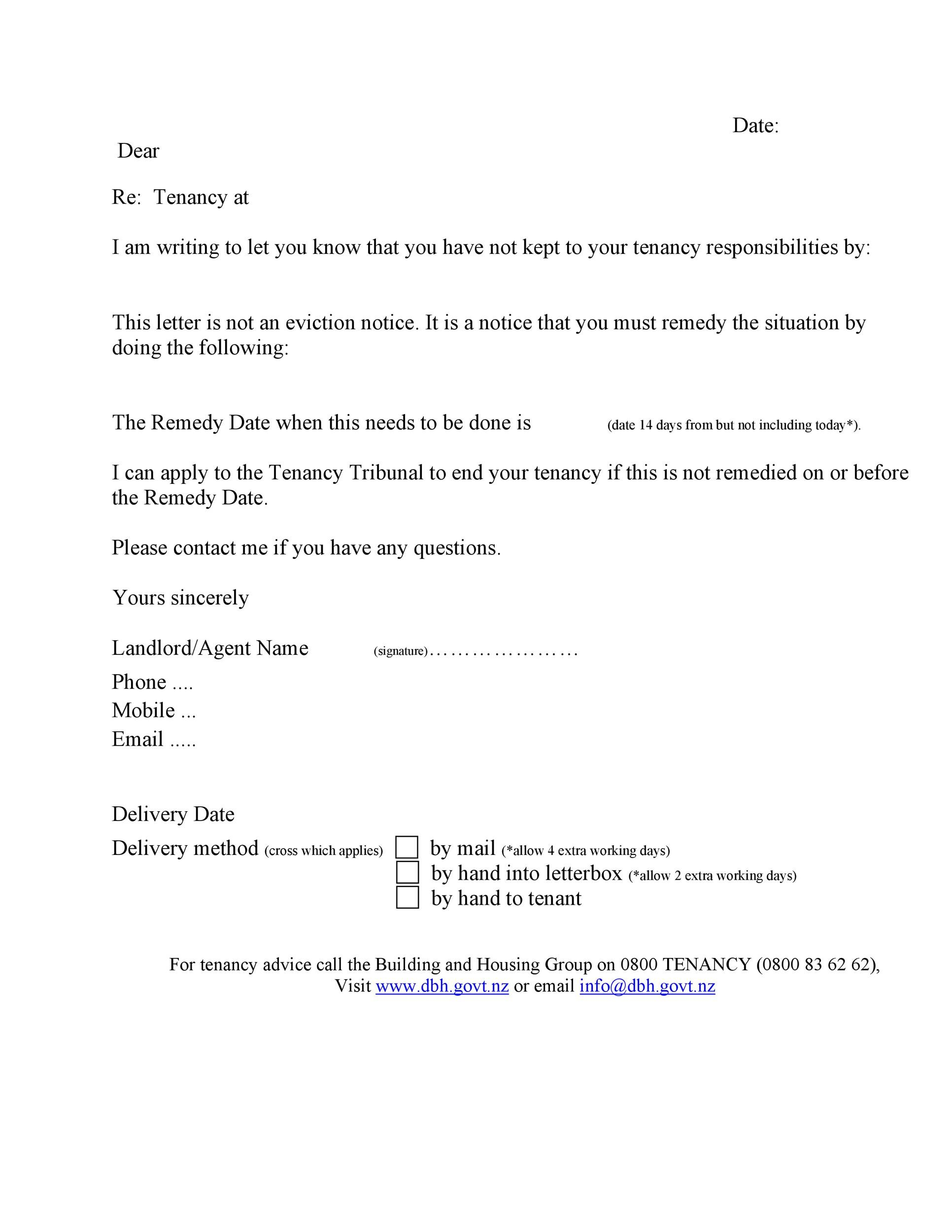 Free Late Rent Notice Template 05
