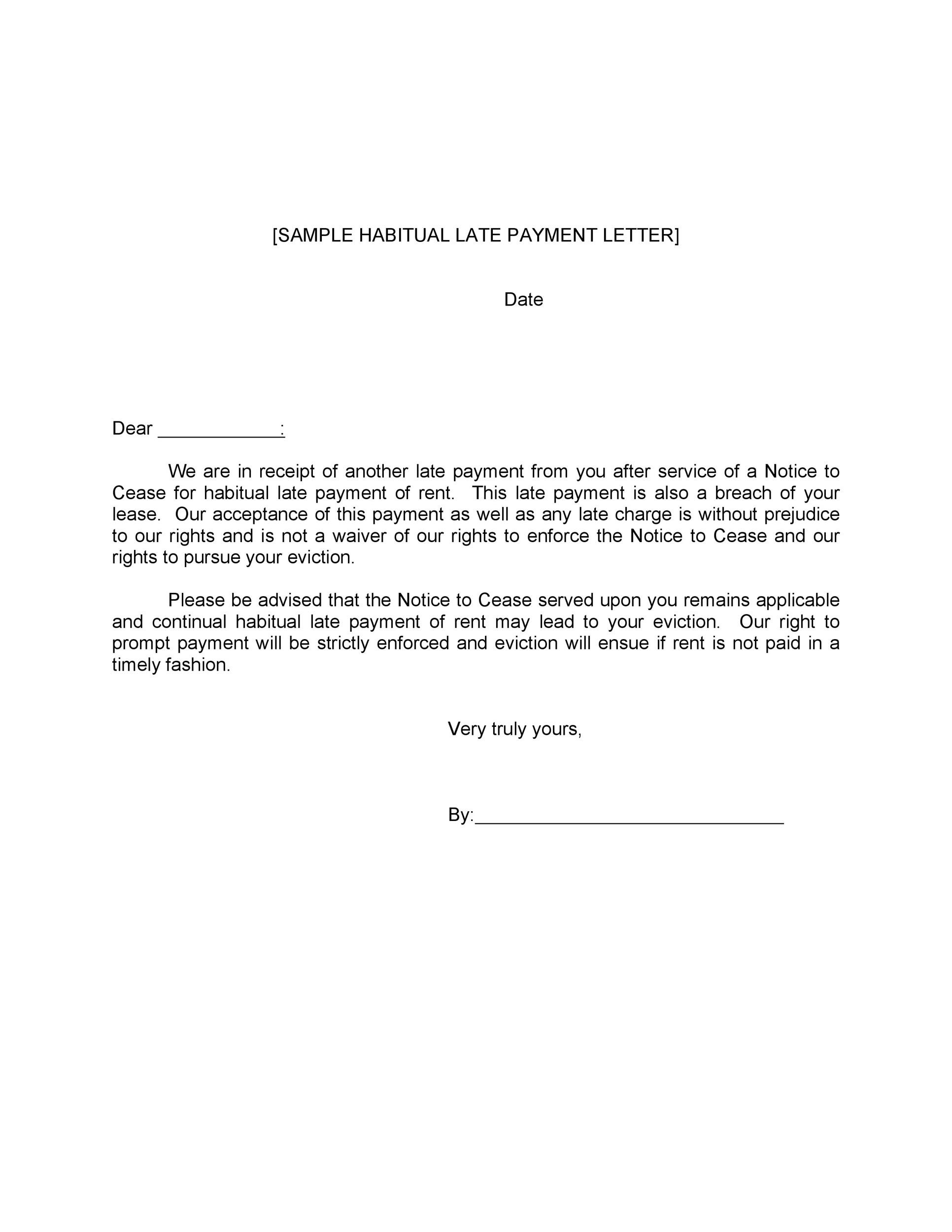 Sample Letter To Tenant For Late Rent from templatelab.com