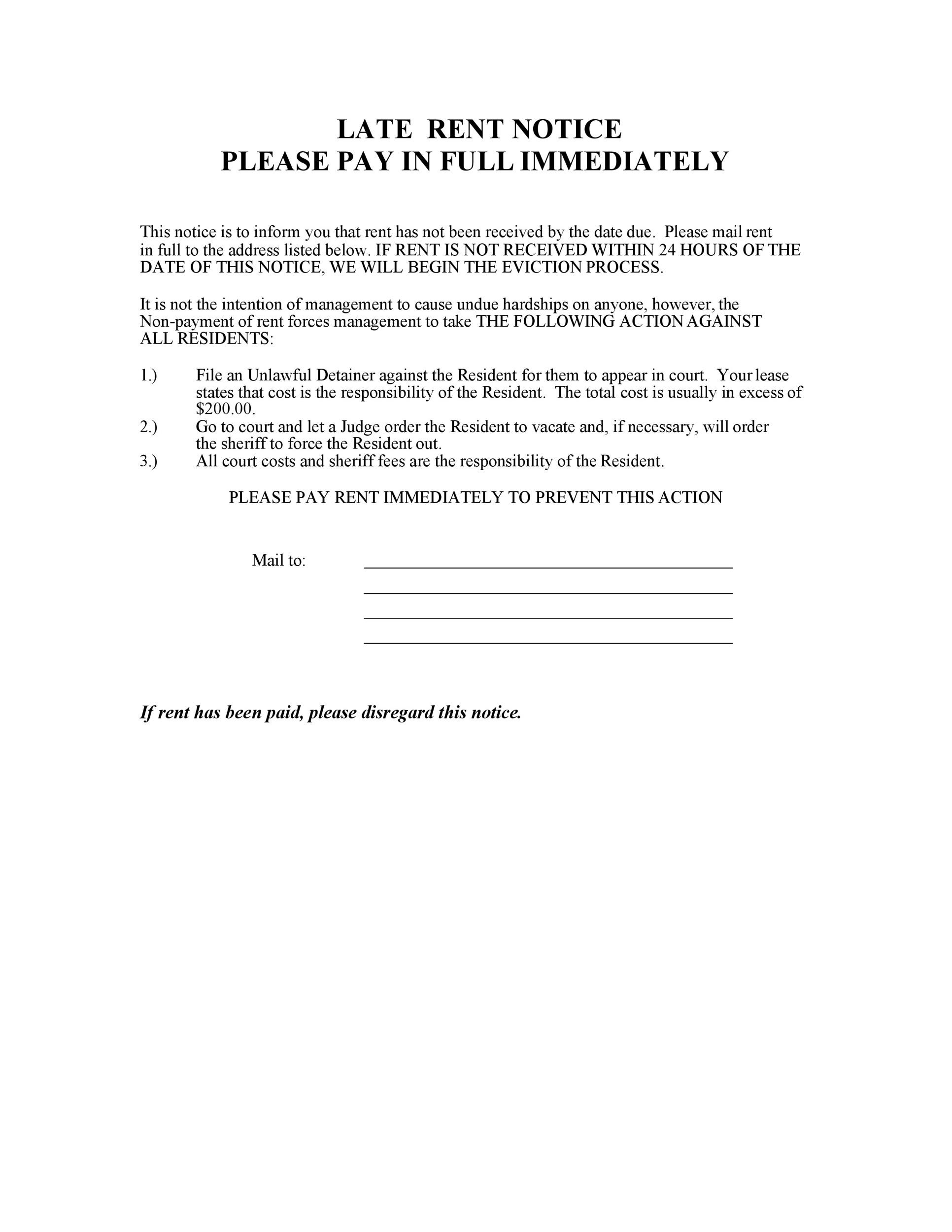 Free Late Rent Notice Template 15