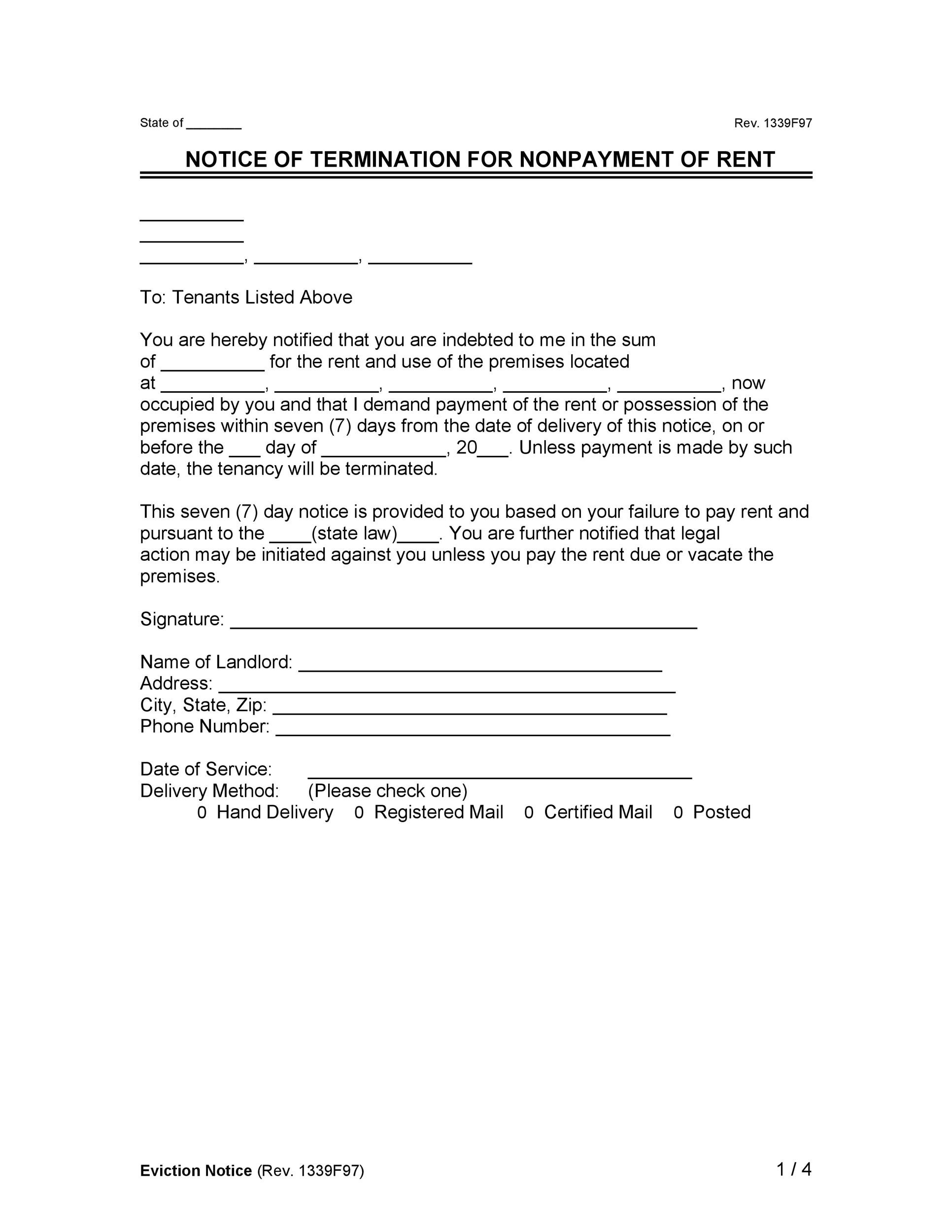 Free Late Rent Notice Template 16