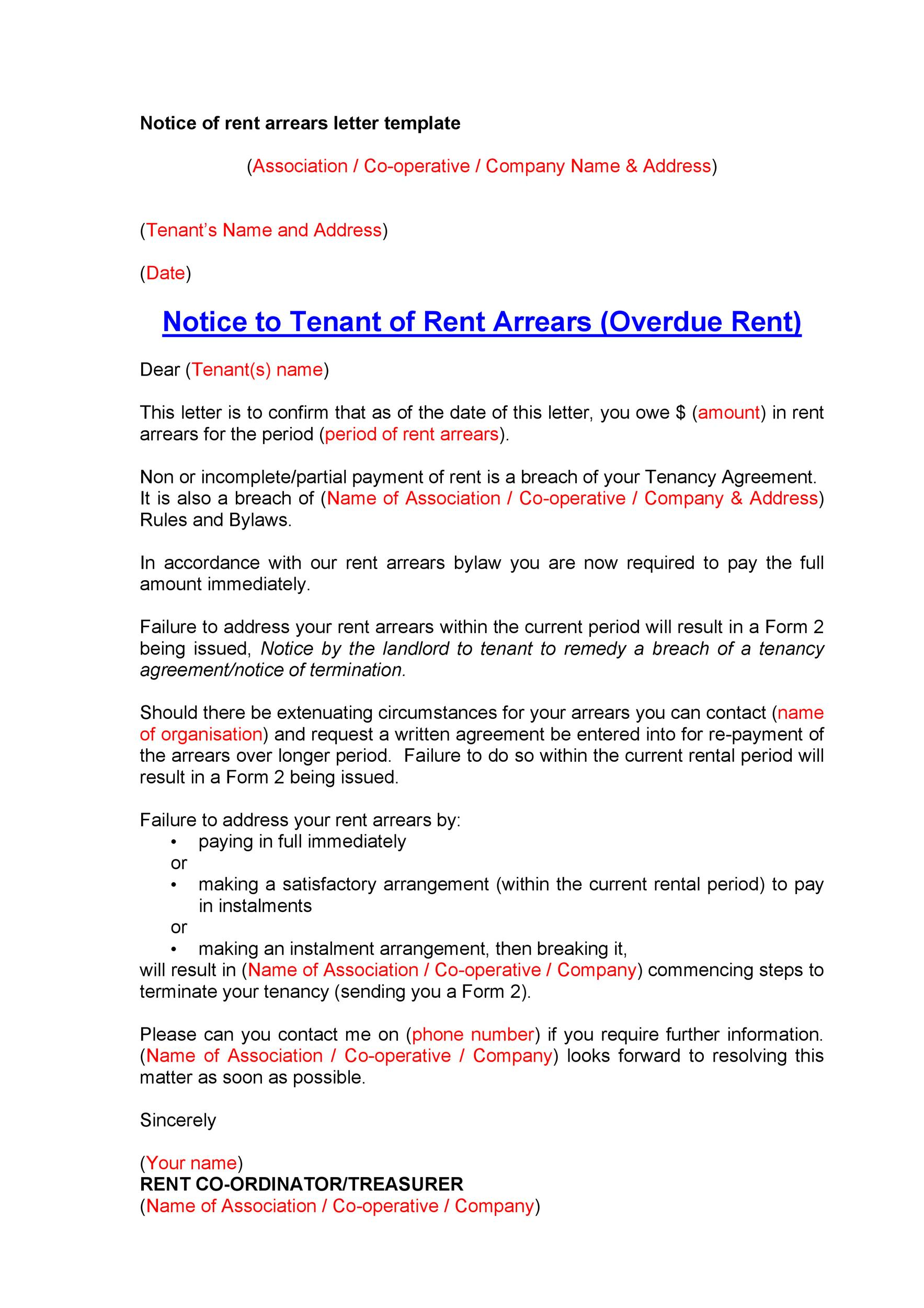 Free Late Rent Notice Template 20
