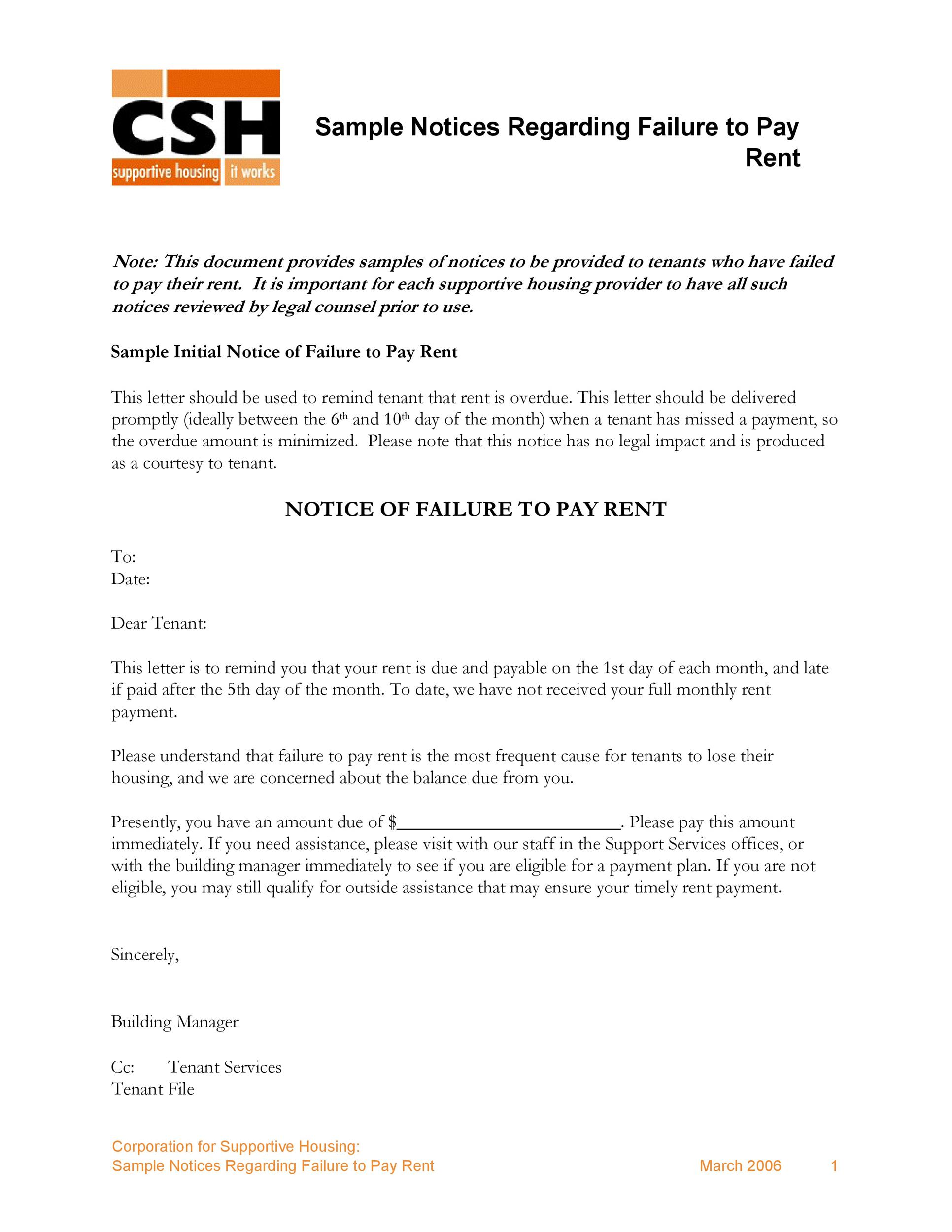Free Late Rent Notice Template 28
