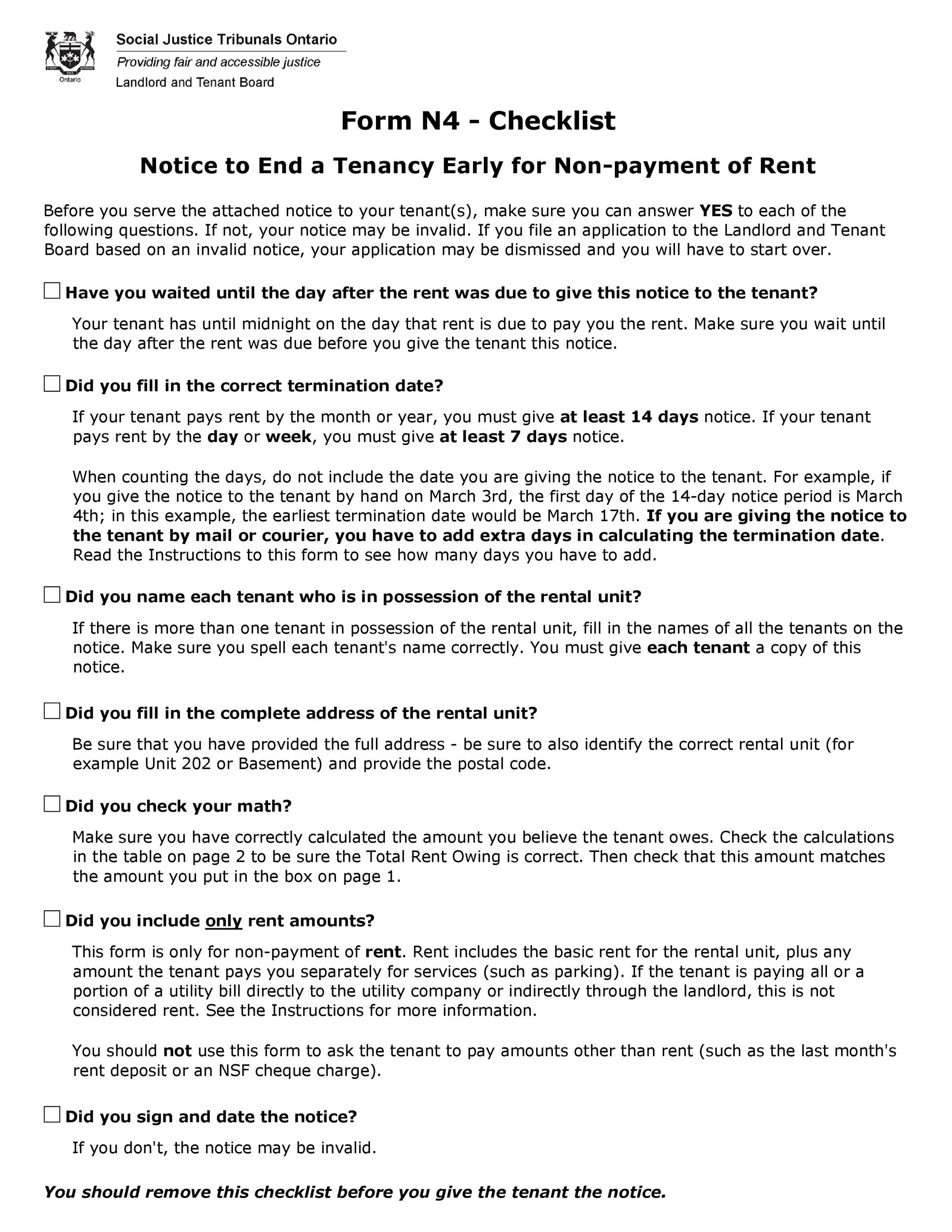 Free Late Rent Notice Template 33