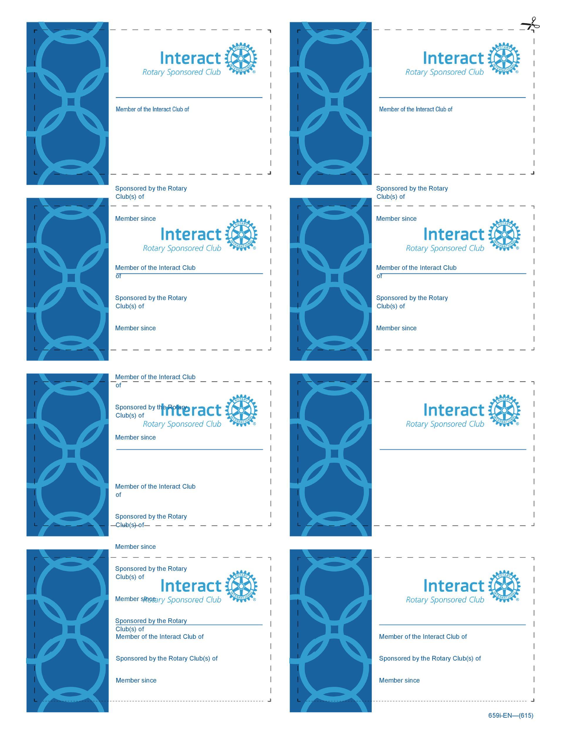 Free Membership Card Design Template 05