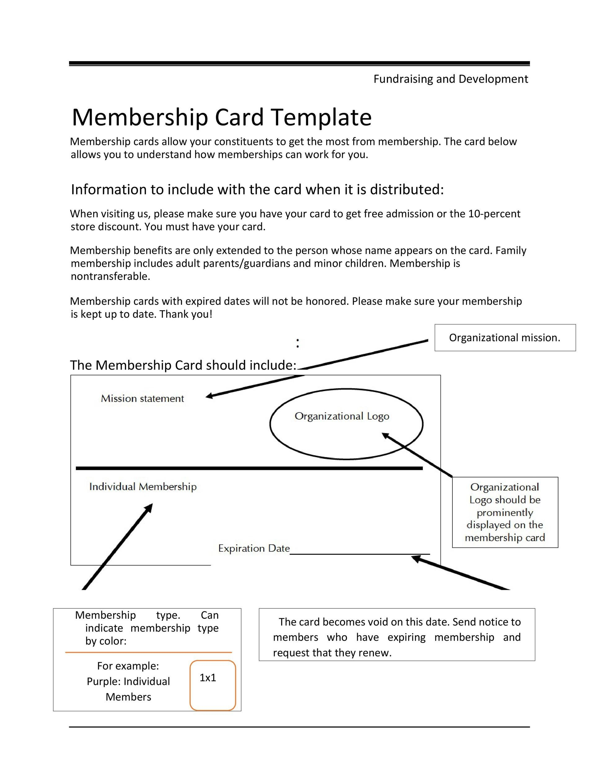 Free Membership Card Design Template 06