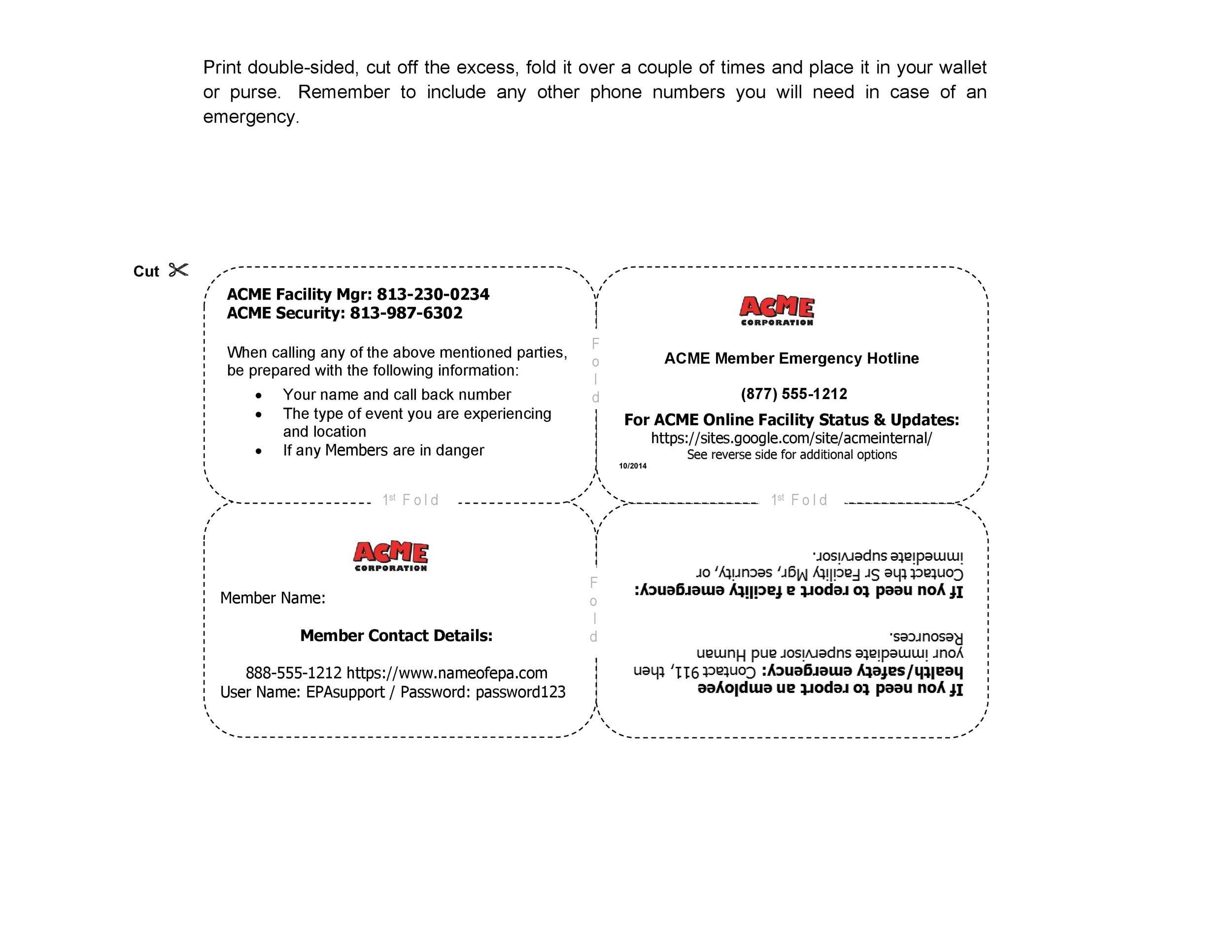 Free Membership Card Design Template 08