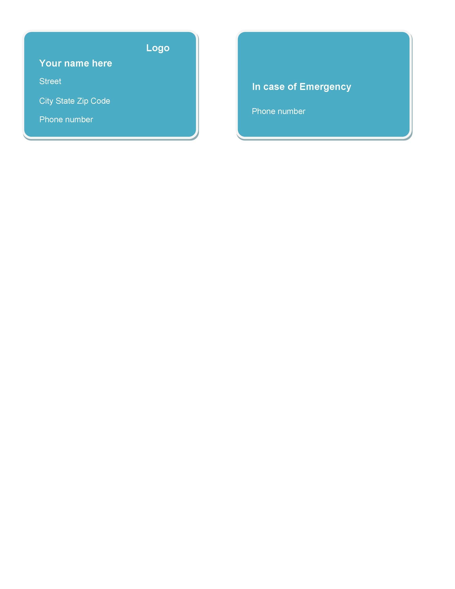 Free Membership Card Design Template 09