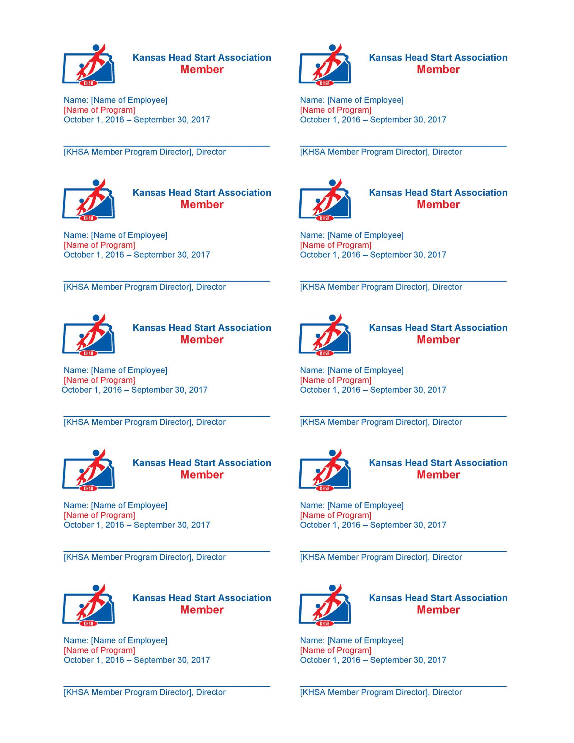 Free Membership Card Design Template 10