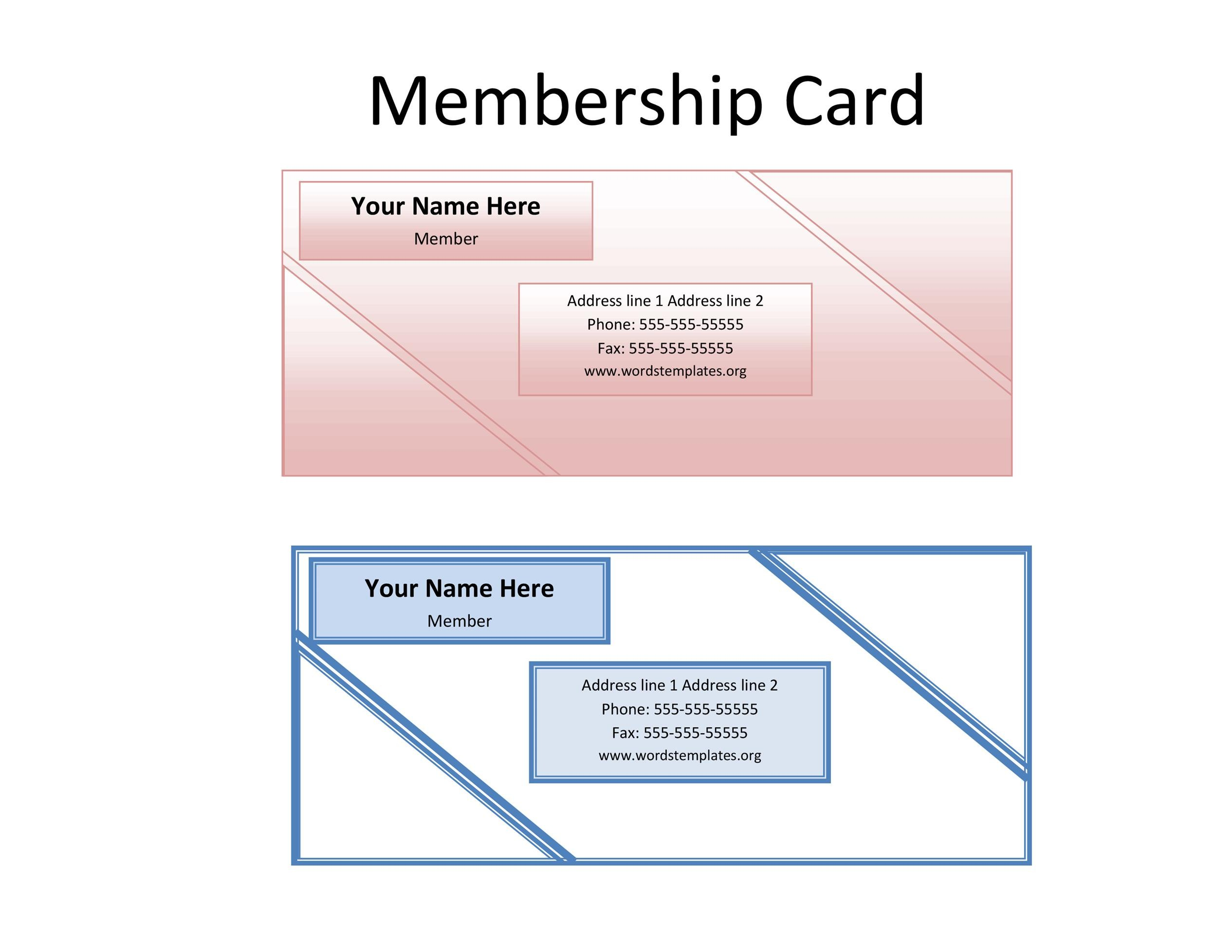 Free Membership Card Design Template 11