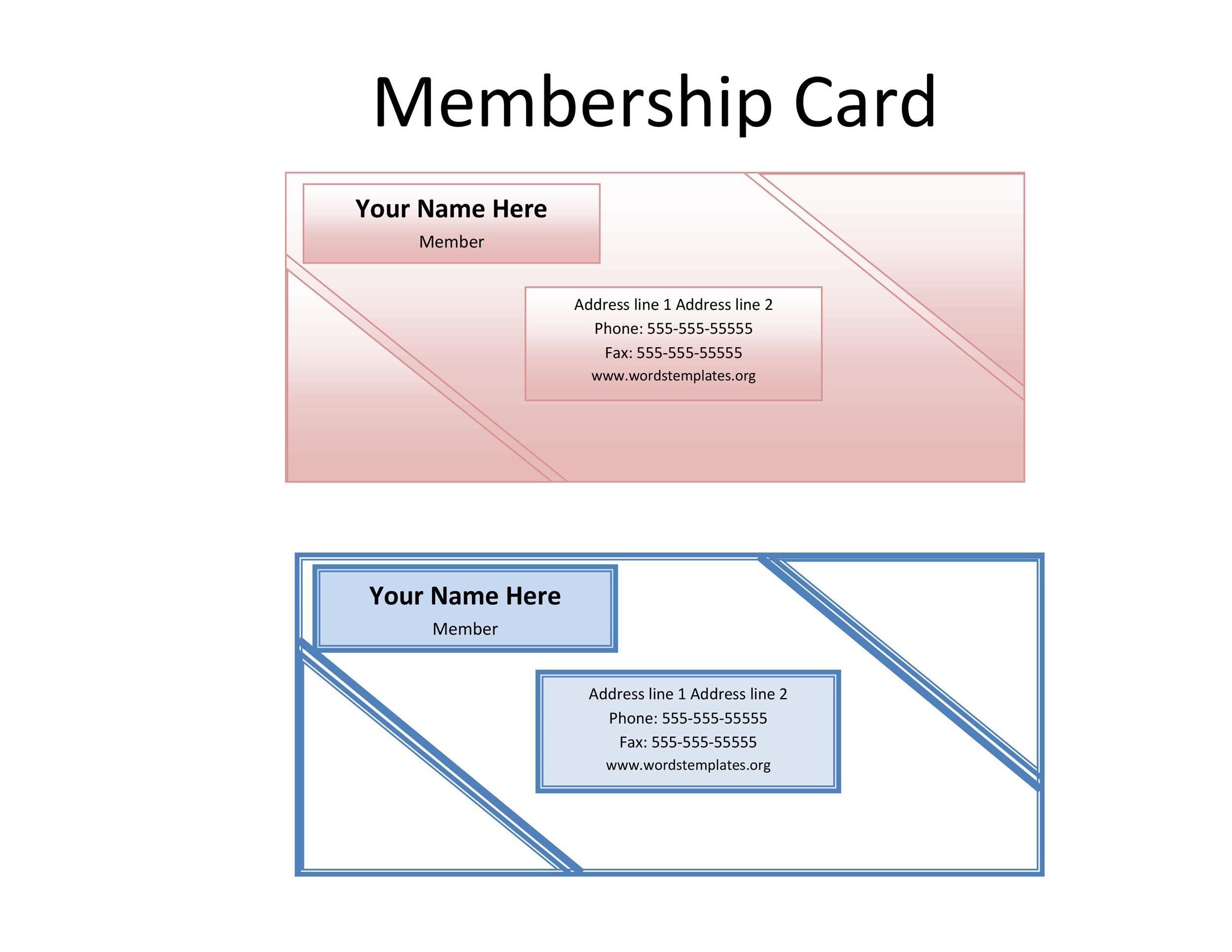Free Membership Card Design Template 11