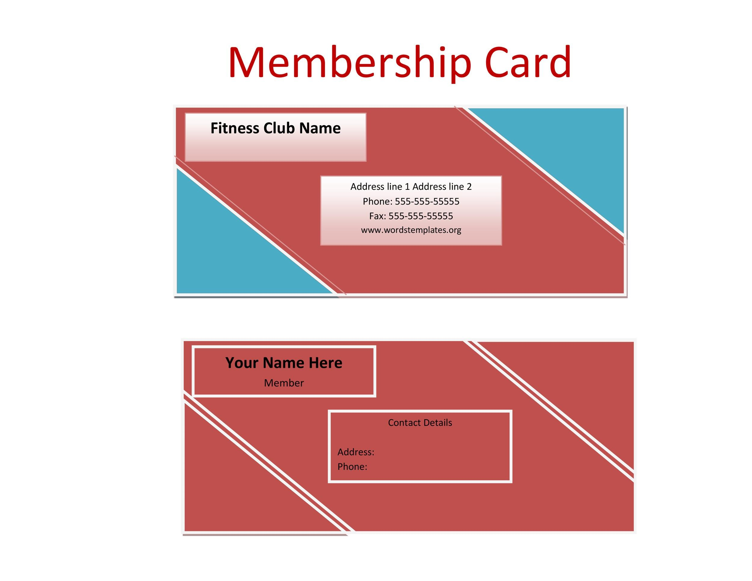 Free Membership Card Design Template 14