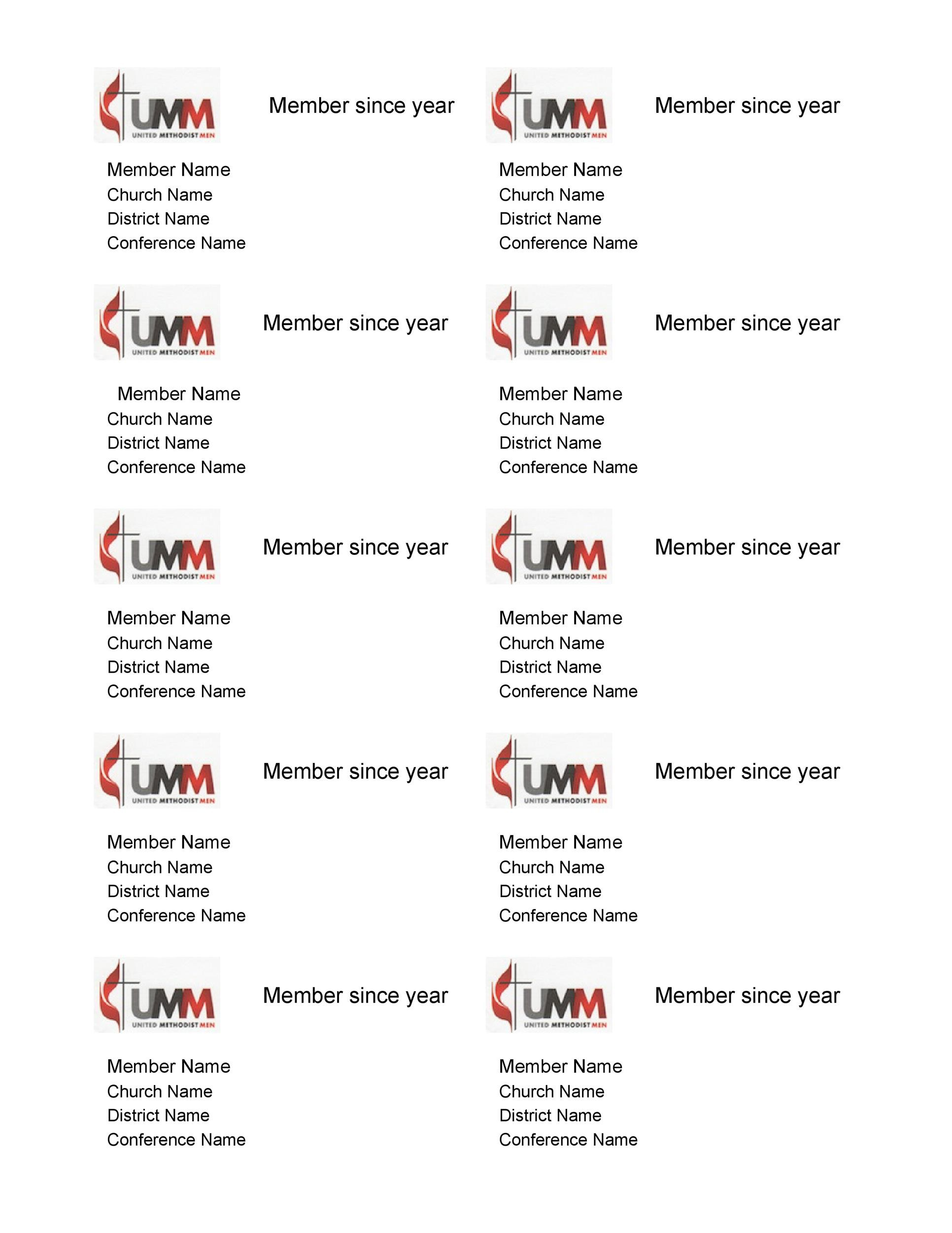 Free Membership Card Design Template 15