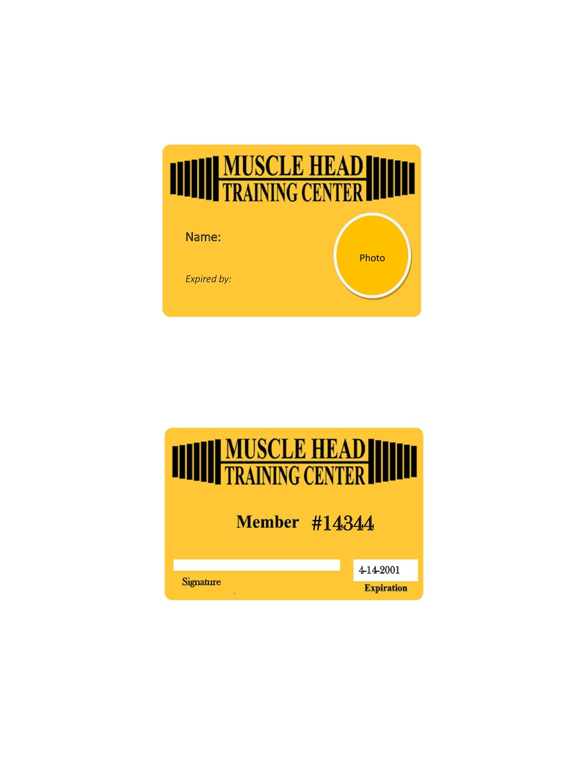 Free Membership Card Design Template 17