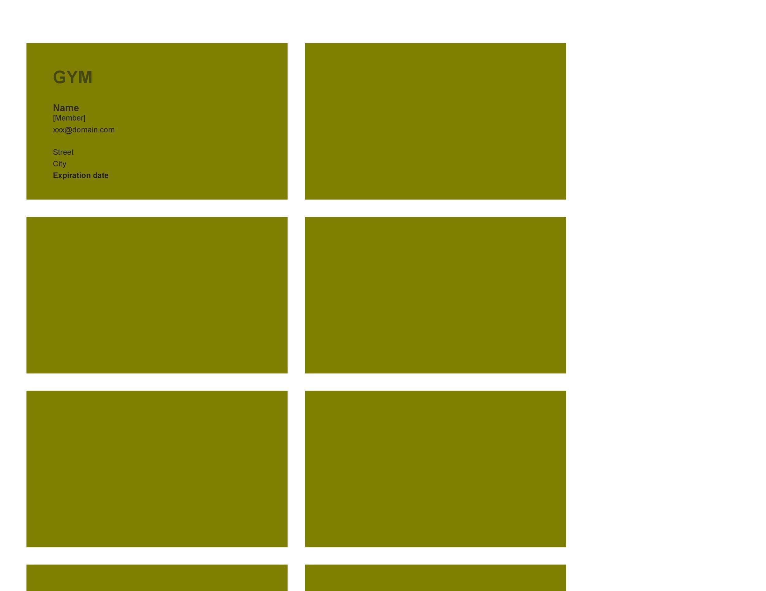 Free Membership Card Design Template 21