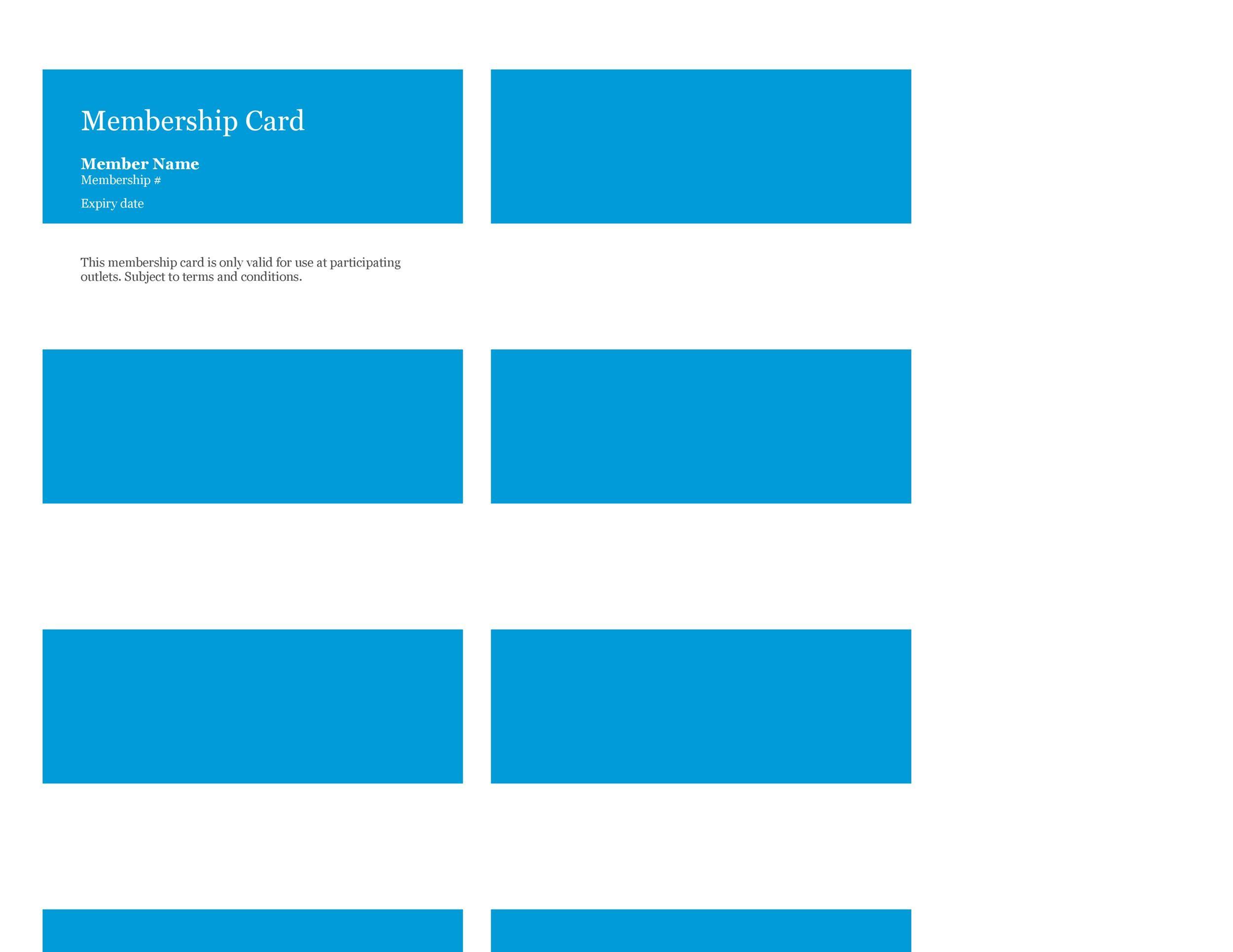 Free Membership Card Design Template 23