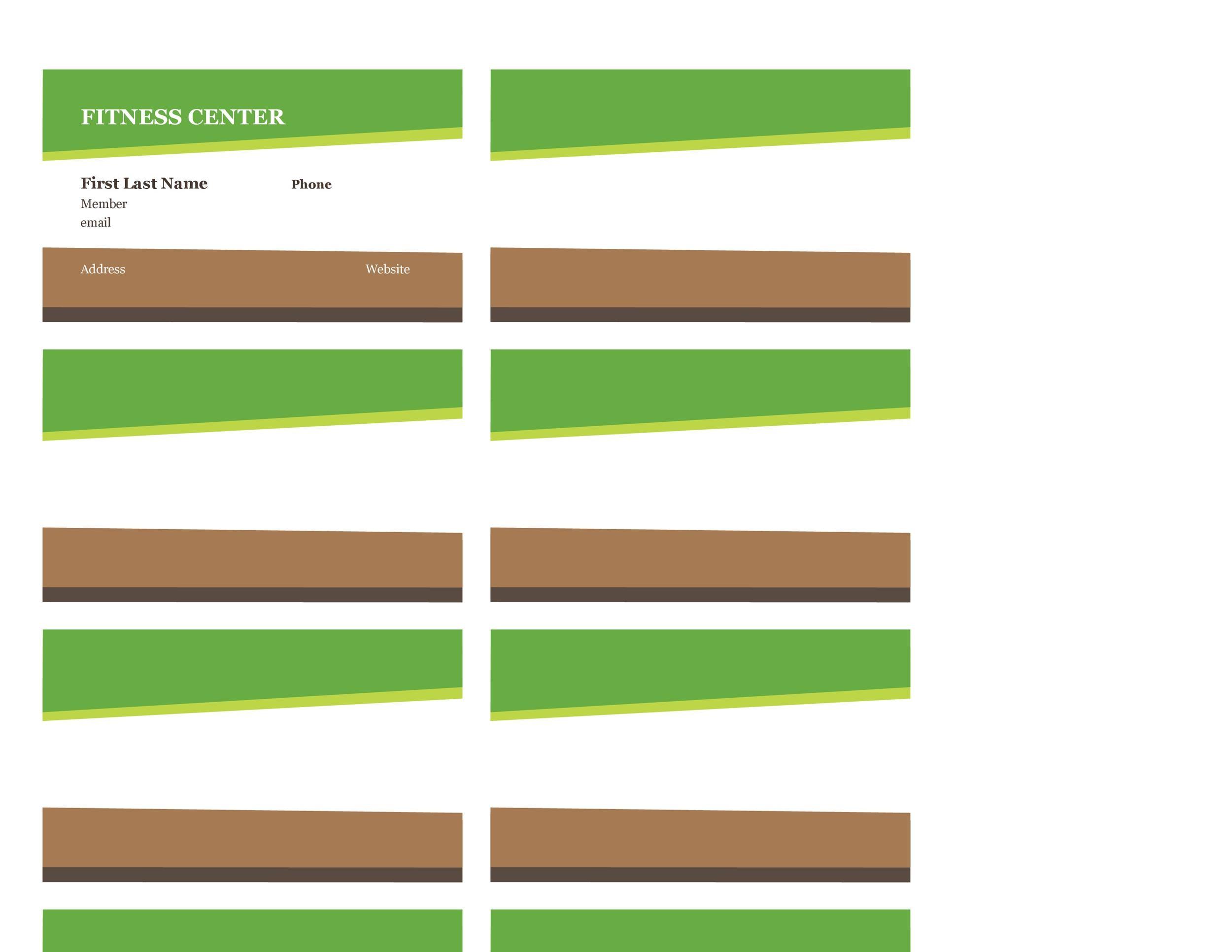 Free Membership Card Design Template 24