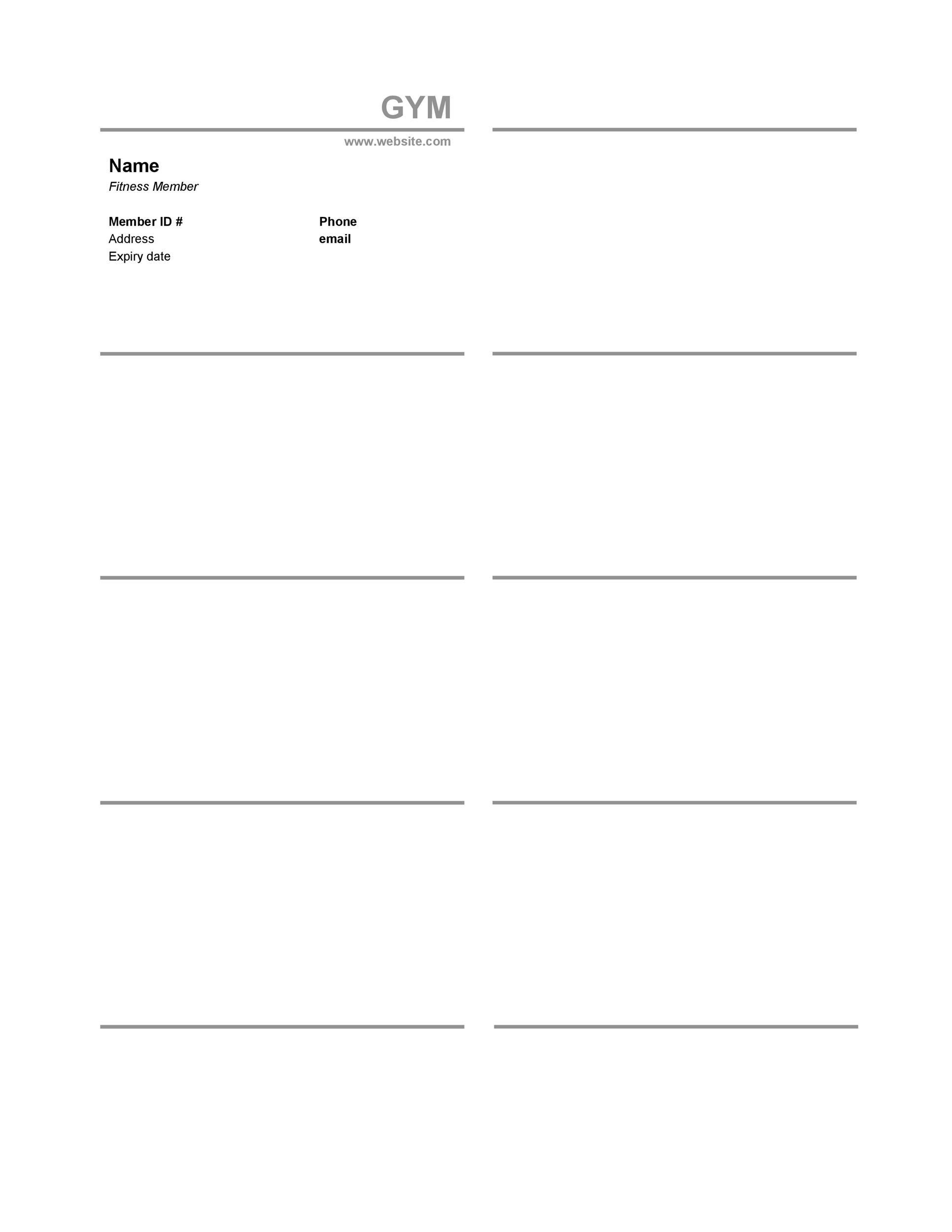 Free Membership Card Design Template 25
