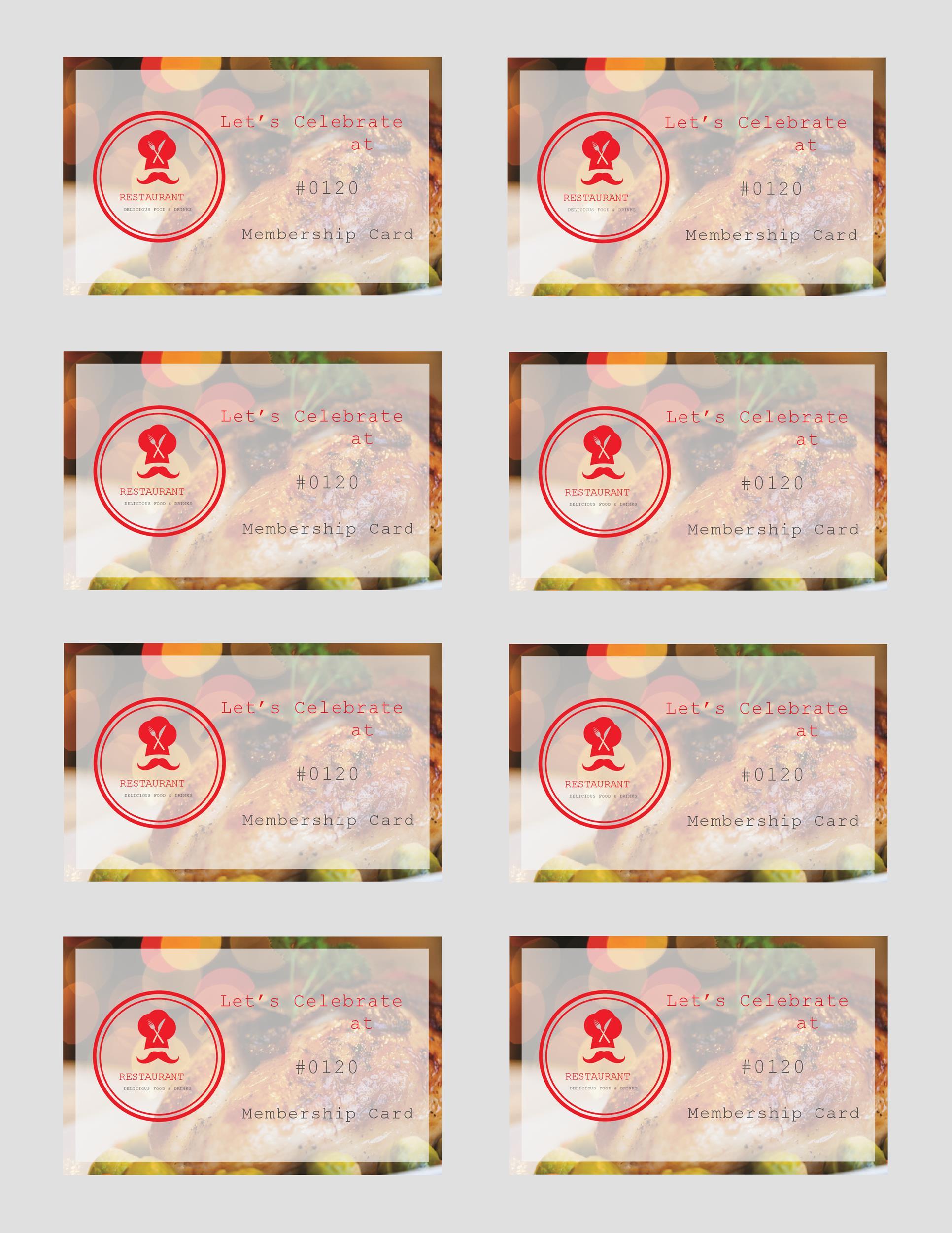 Free Membership Card Design Template 31