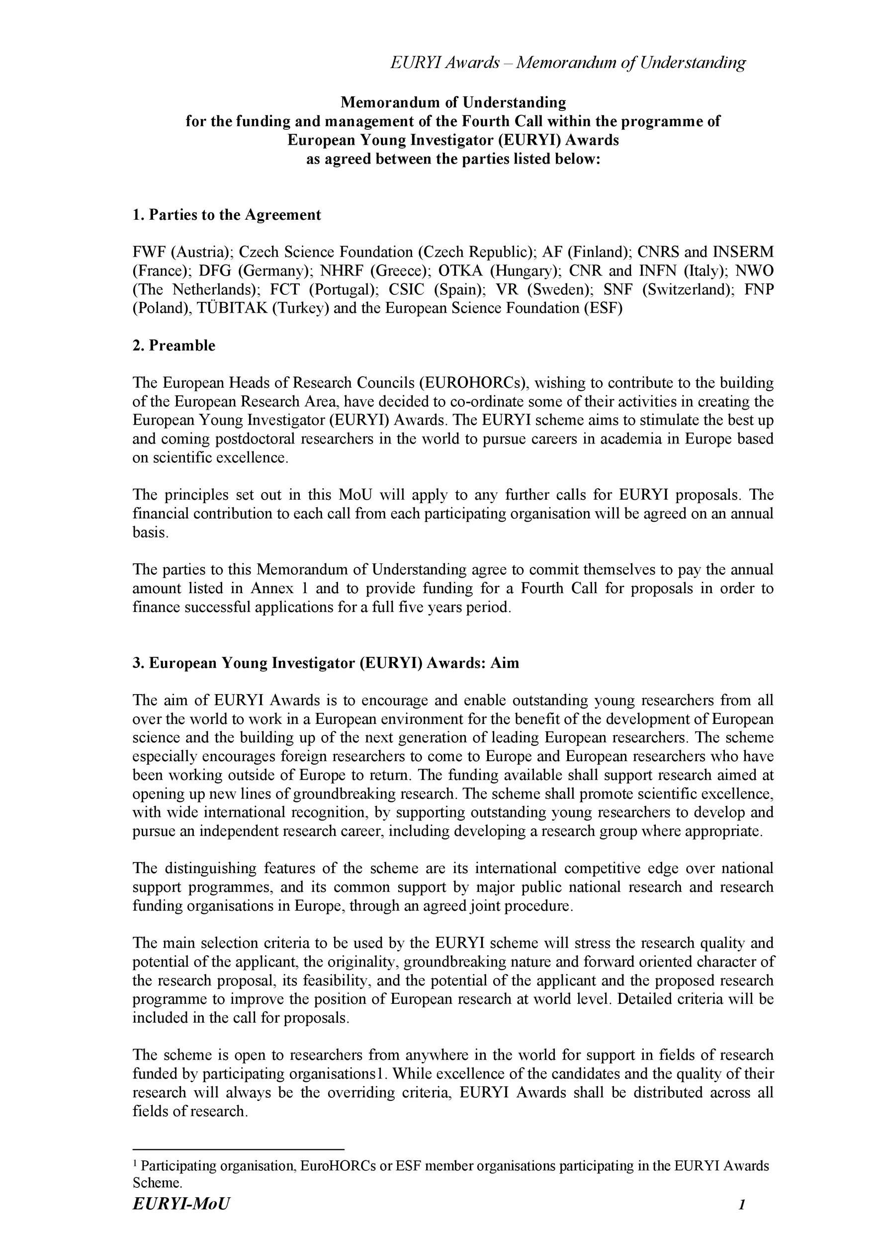 free sample of memorandum of understanding