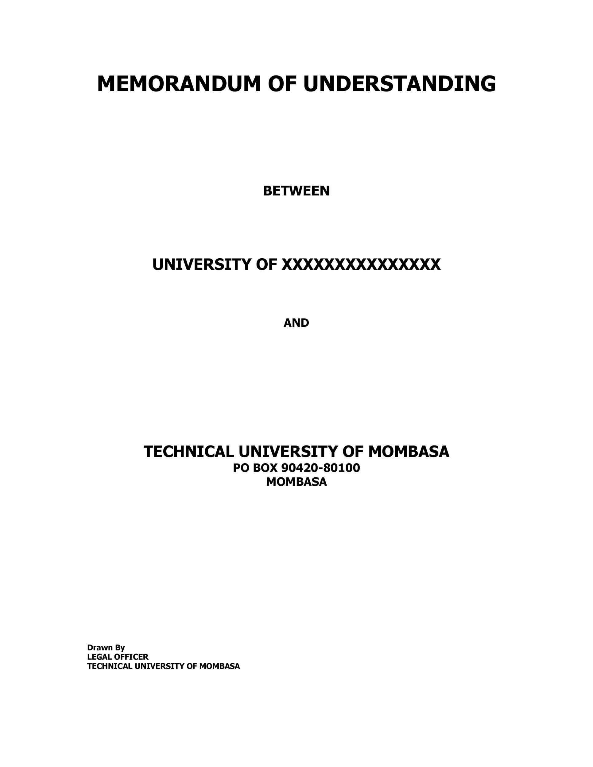 Free Memorandum of Understanding Template 13