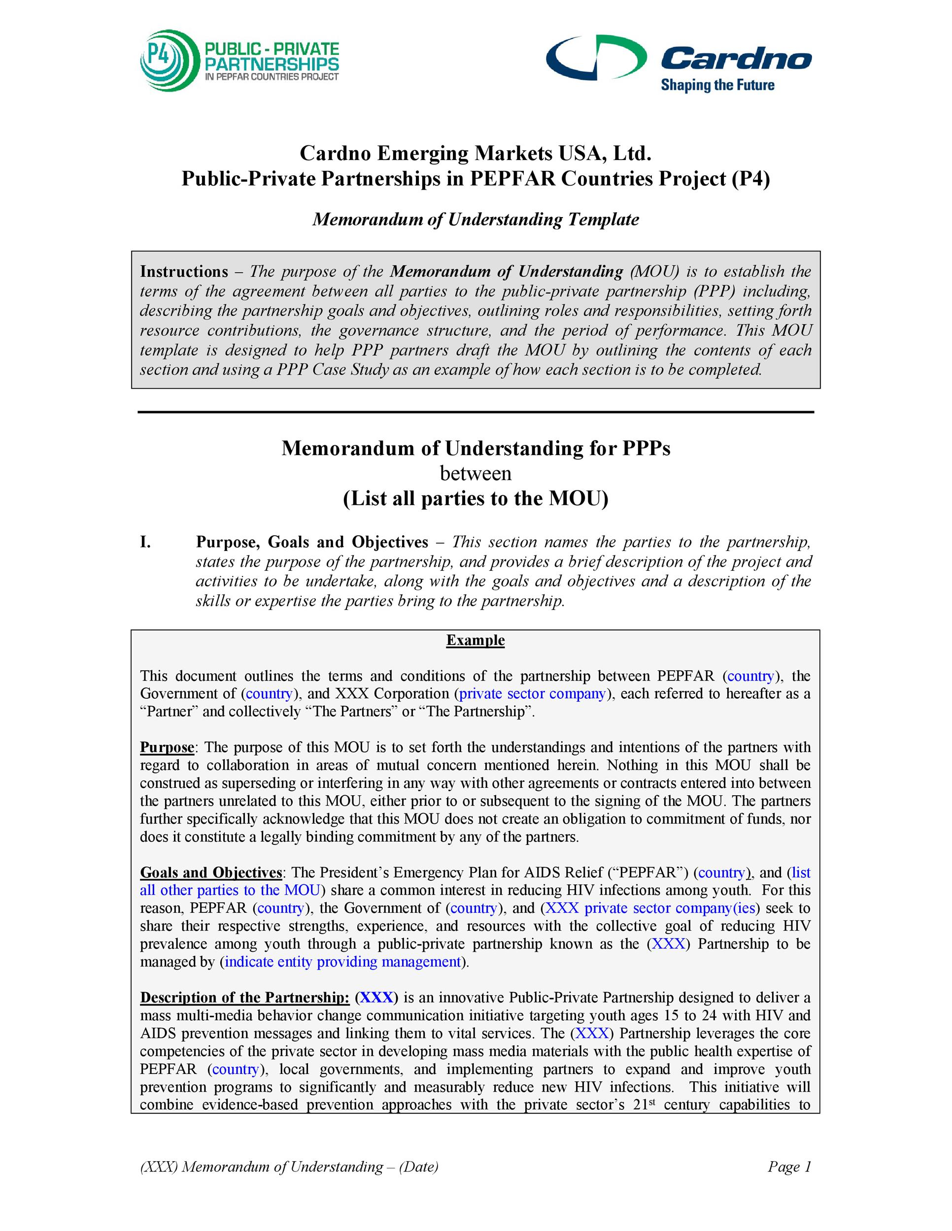 Free Memorandum of Understanding Template 18