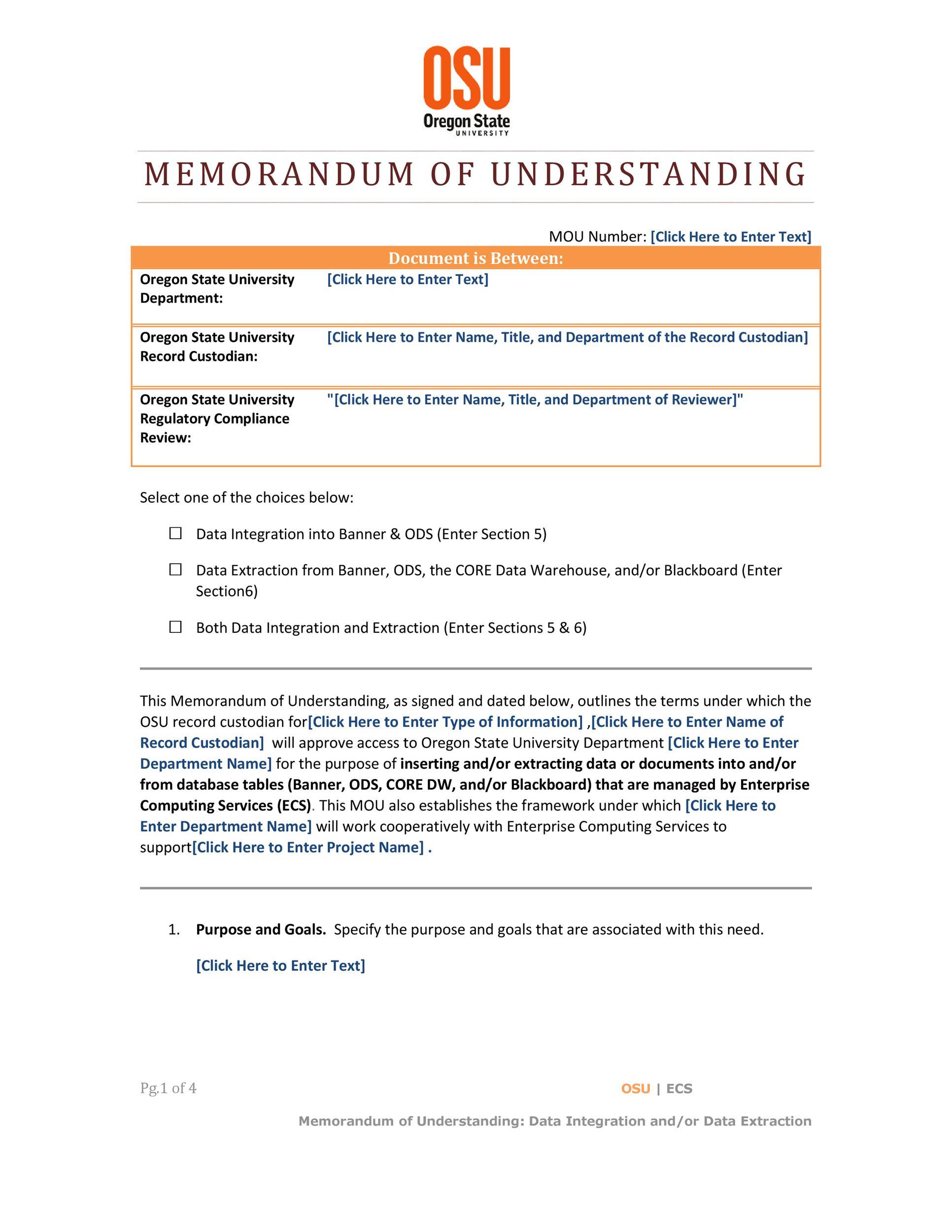 Free Memorandum of Understanding Template 22